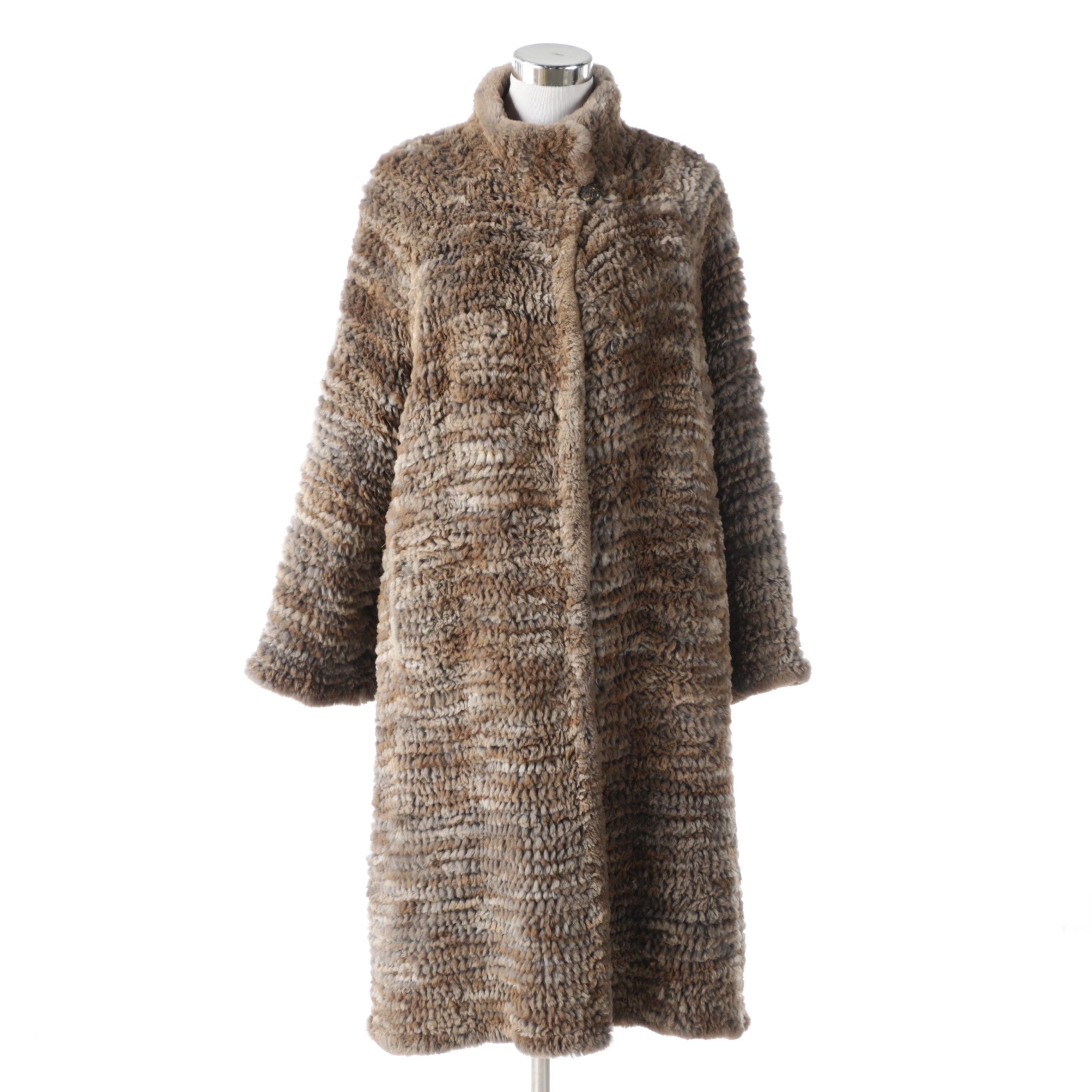 Cassin New York Knit Rabbit Fur Coat
