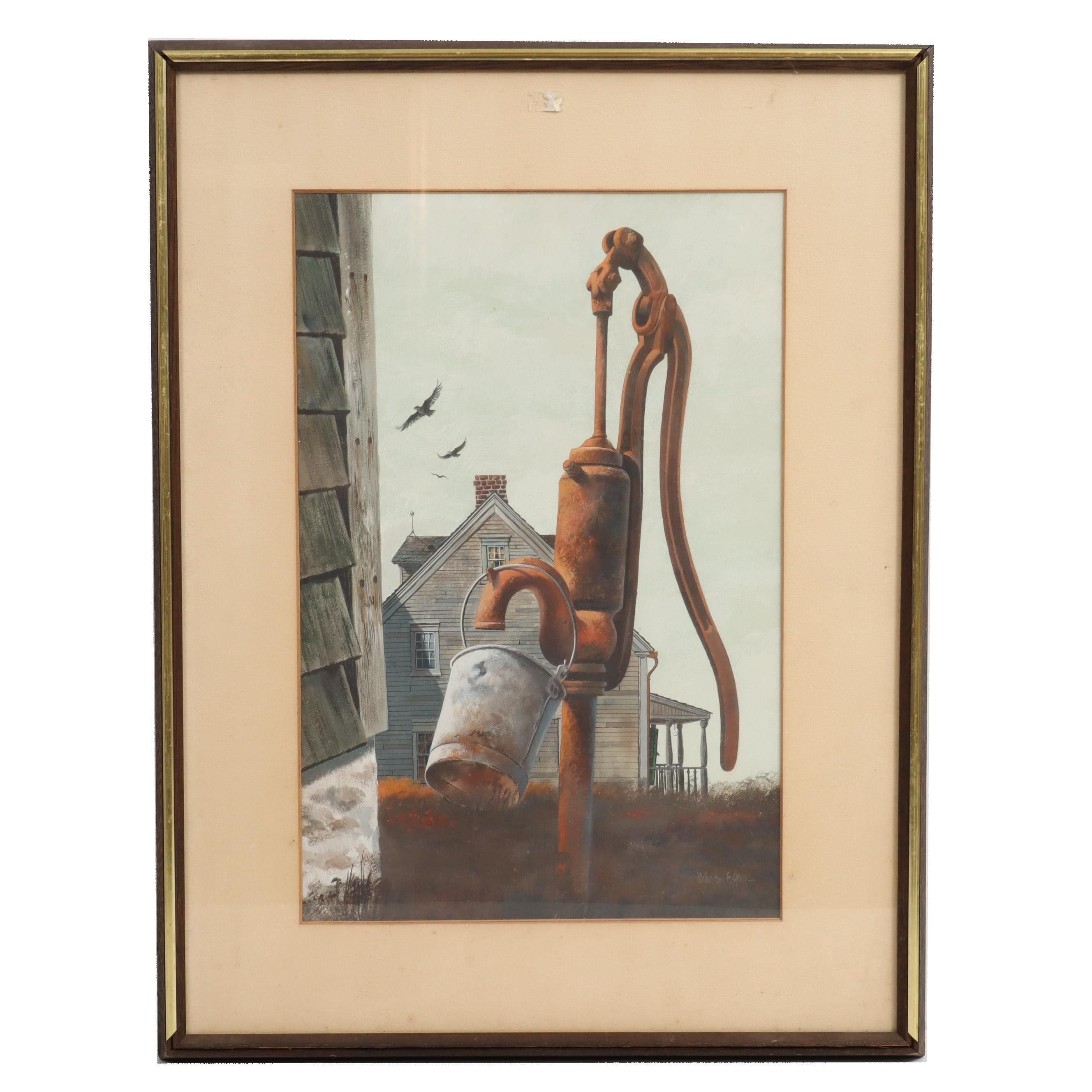 Scholten B. Jones Gouache Painting