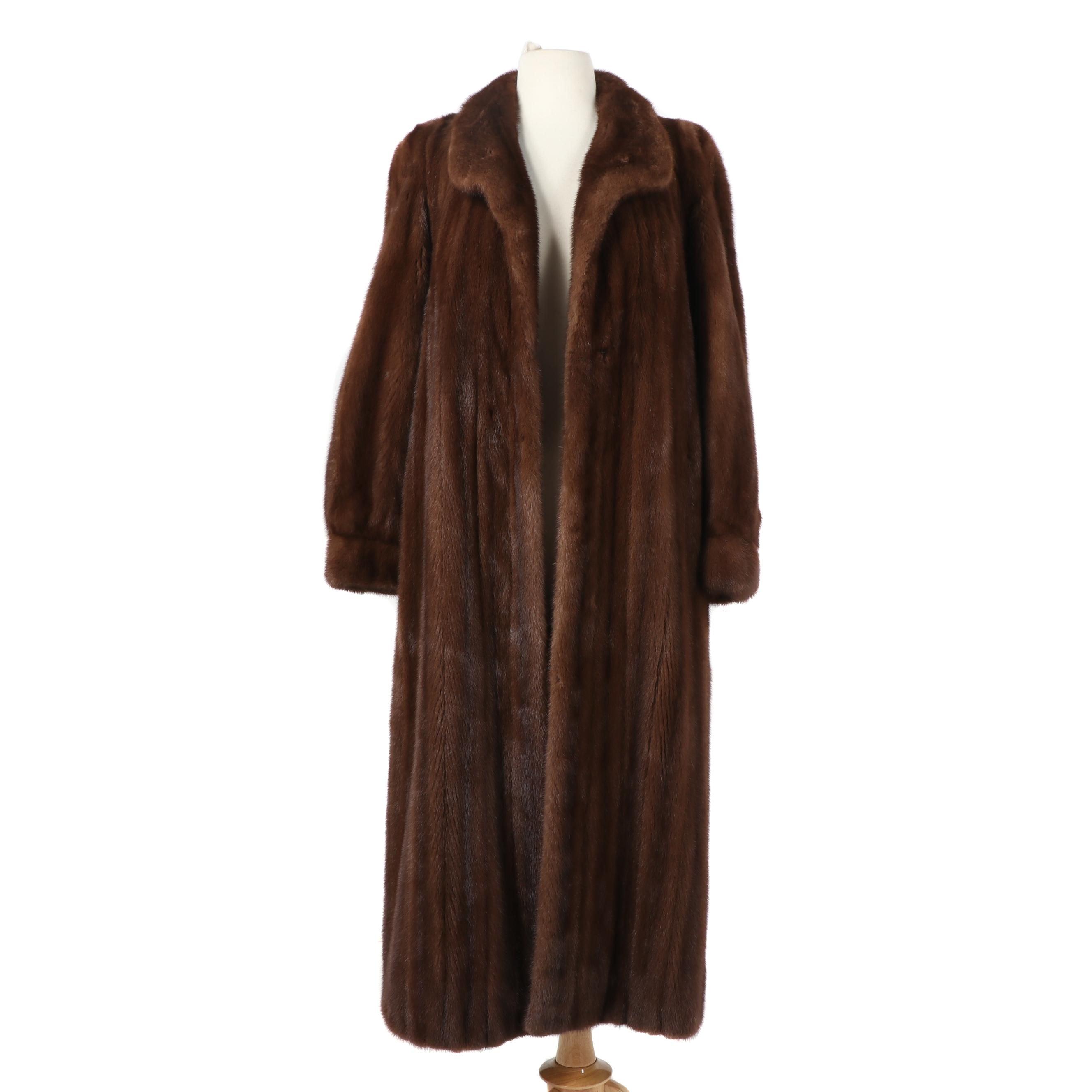 Mahogany Mink Fur Coat from Bifano's of Dallas