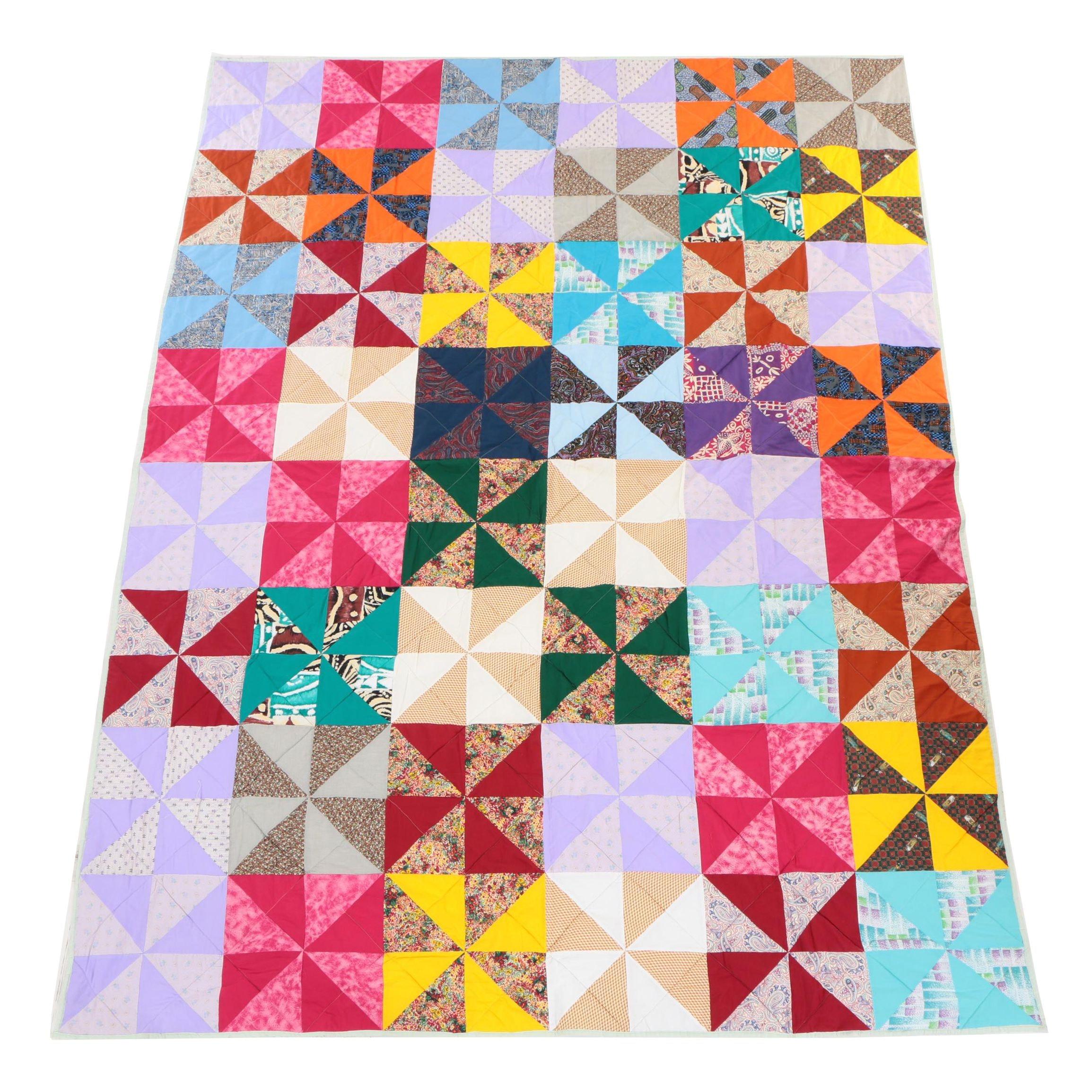Handcrafted Pinwheel Quilt