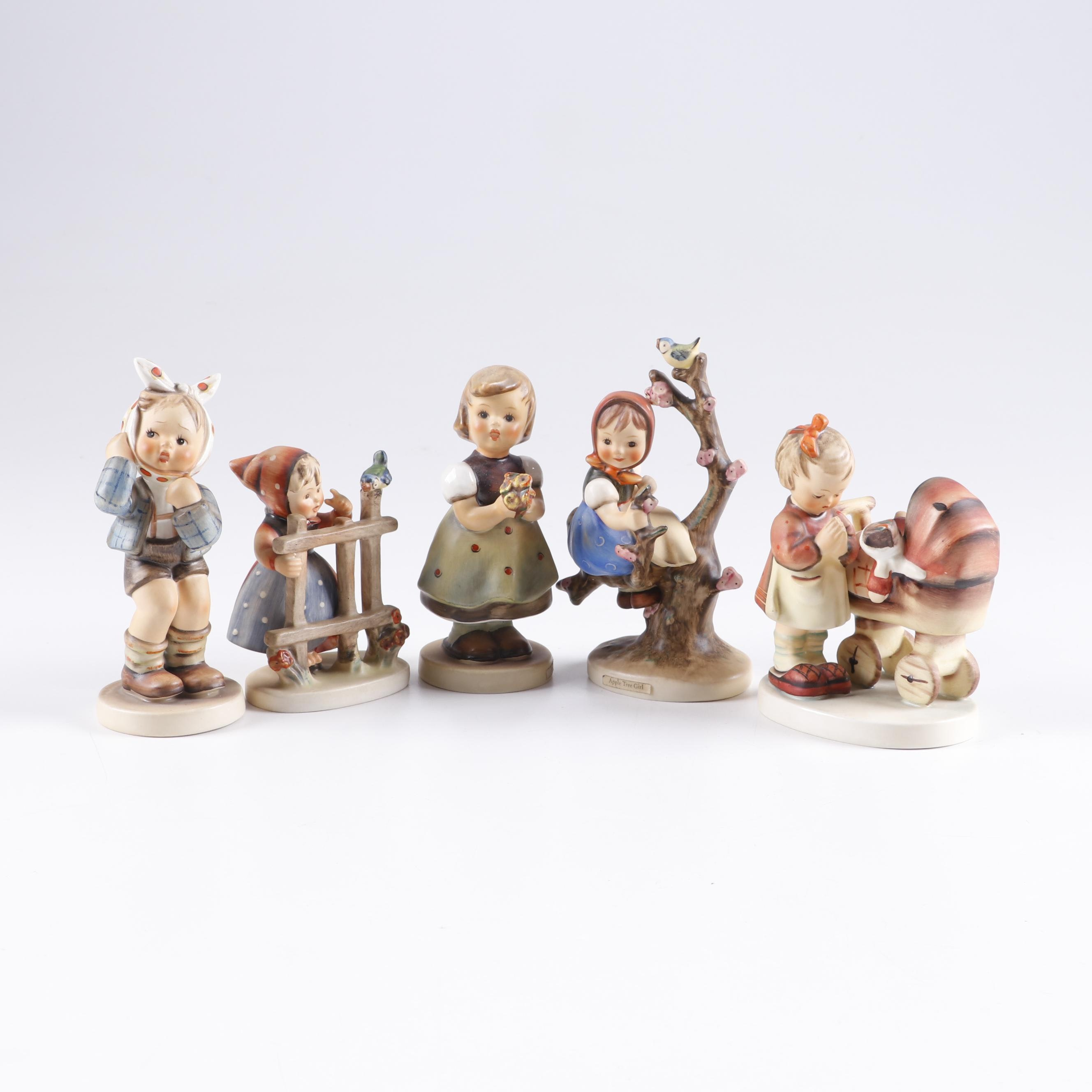 "Goebel Hummel Figurines including ""For Mother"" and ""Apple Tree Girl"""