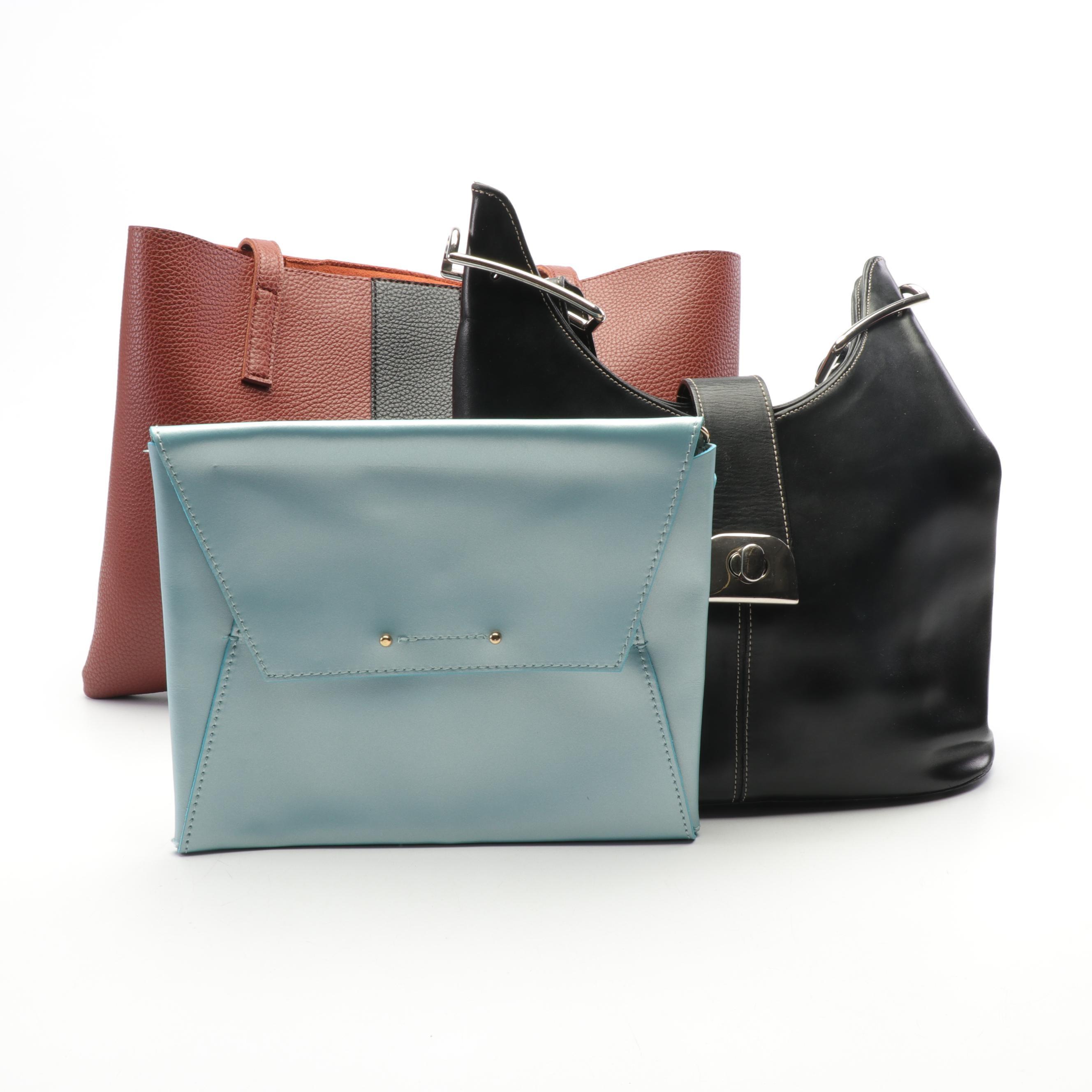 Vince Camuto, Delphine, and Garuglieri Leather Shoulder Bags