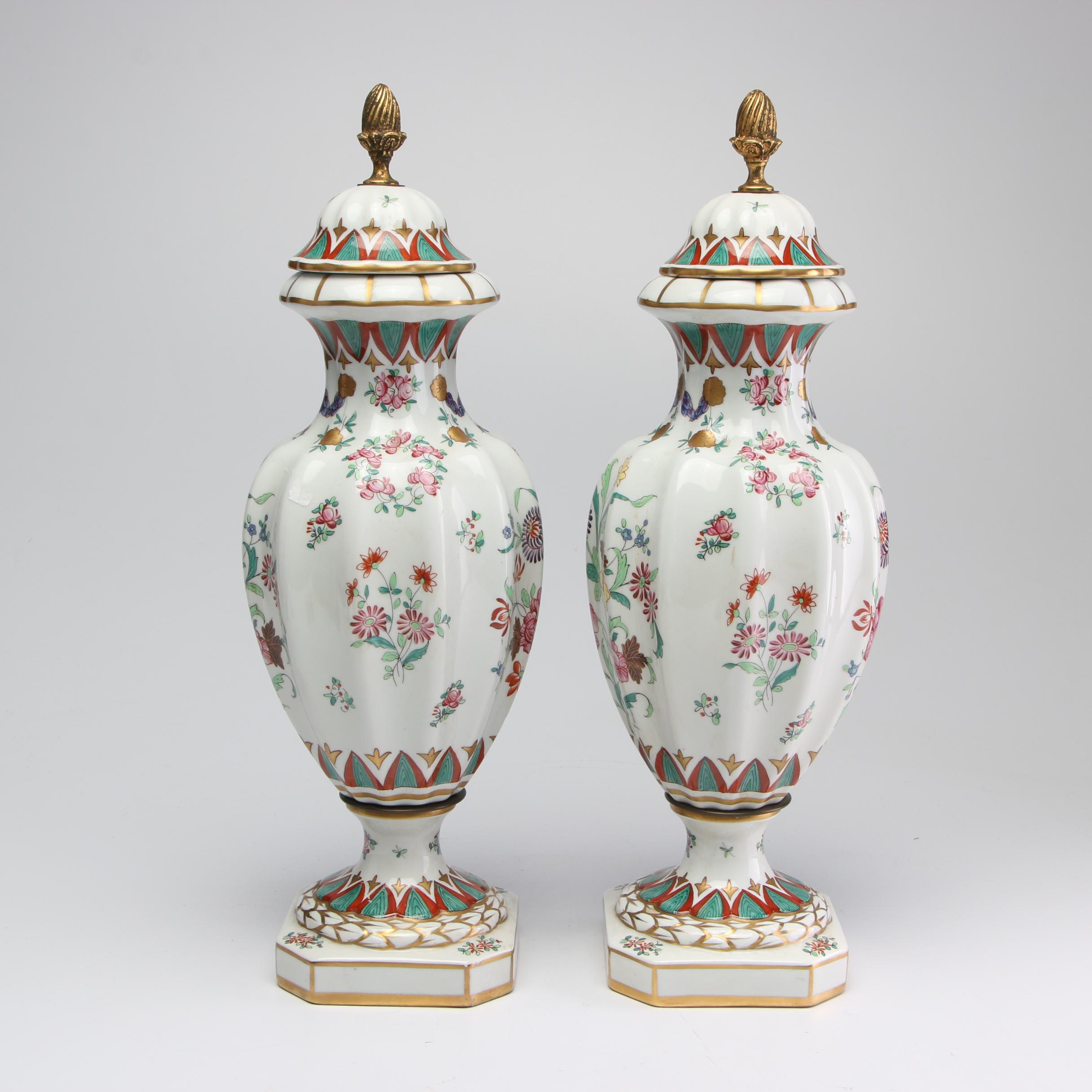 Arnart French Lidded Floor Urns