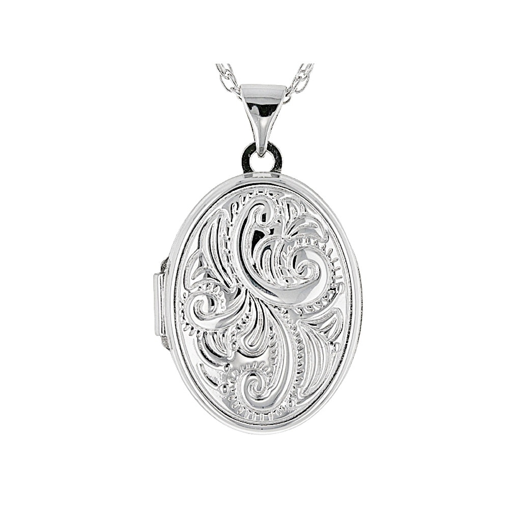 Sterling Silver Locket with Chain