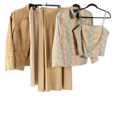 ed7dcf5507f691 Women's Circa 1980 Vintage Burberrys Wool Pantsuit and Silk Skirt ...
