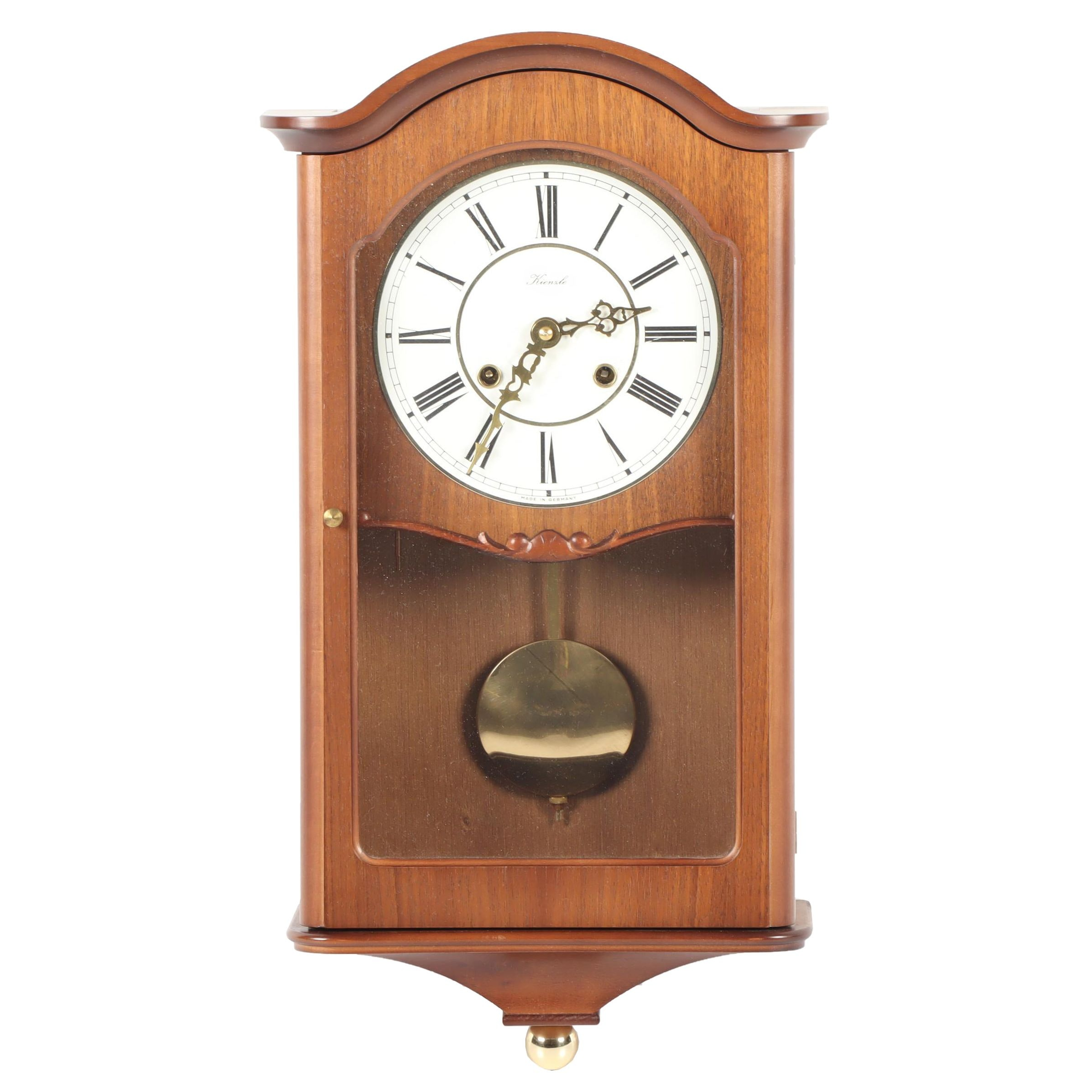 German Kienzle Pendulum Wall Clock, Mid to Late 20th Century