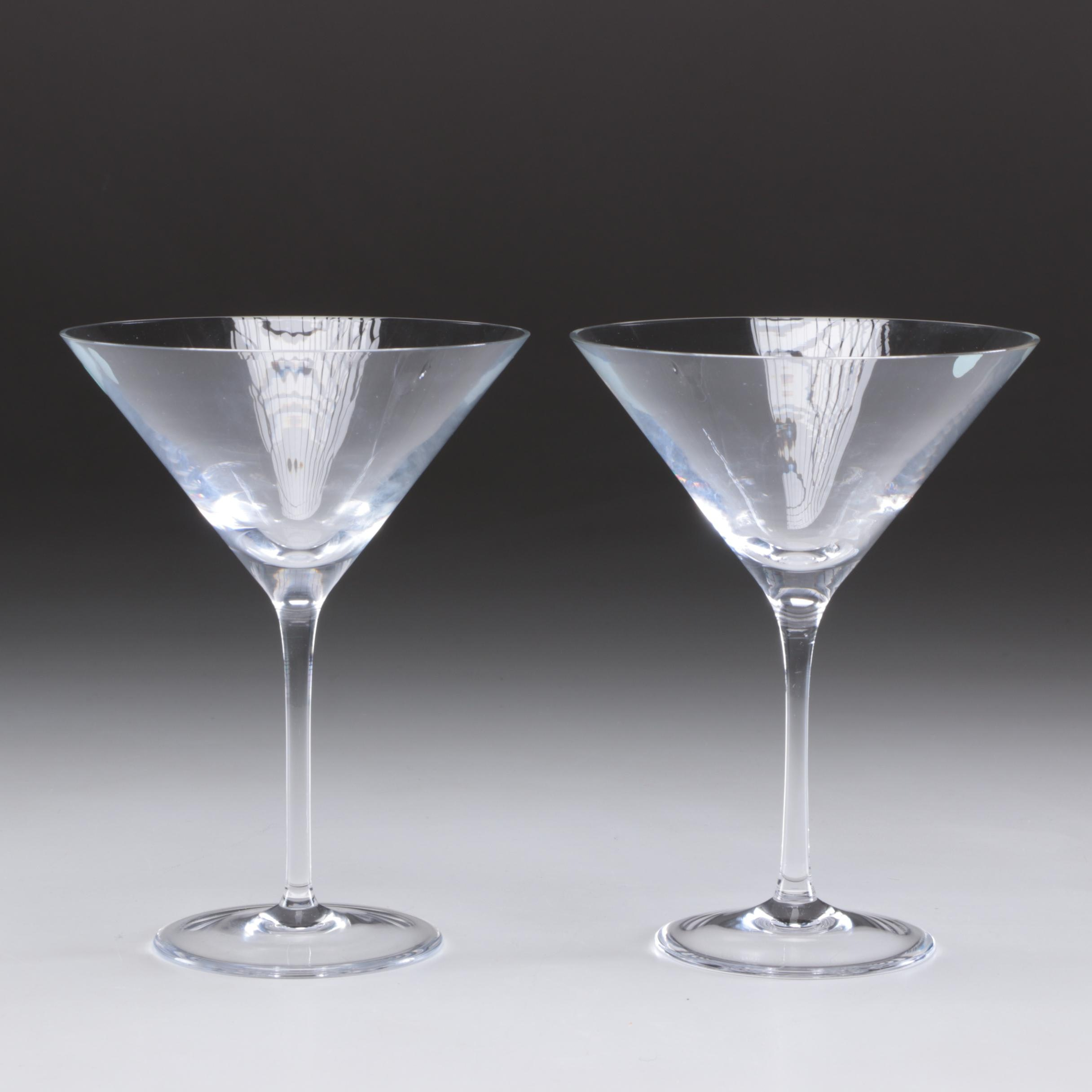 Tiffany & Co. Martini Glasses, Contemporary