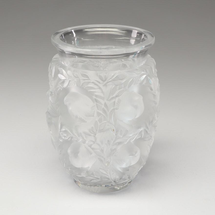 "Lalique ""Bagatelle"" Crystal Vase, Mid-Century"