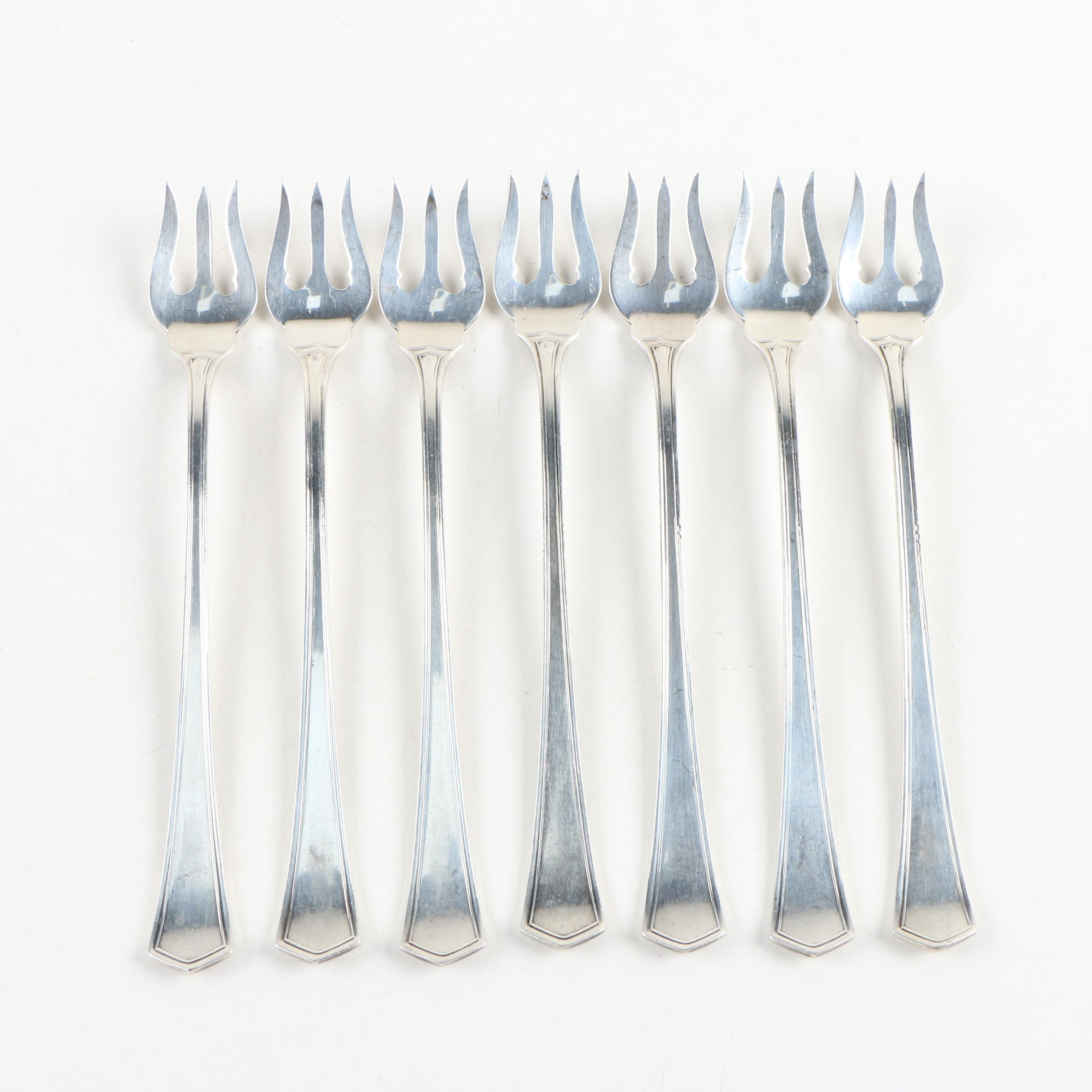 "Mt. Vernon Silver Co. ""Old South"" Sterling Silver Oyster Forks, 1914–1923"