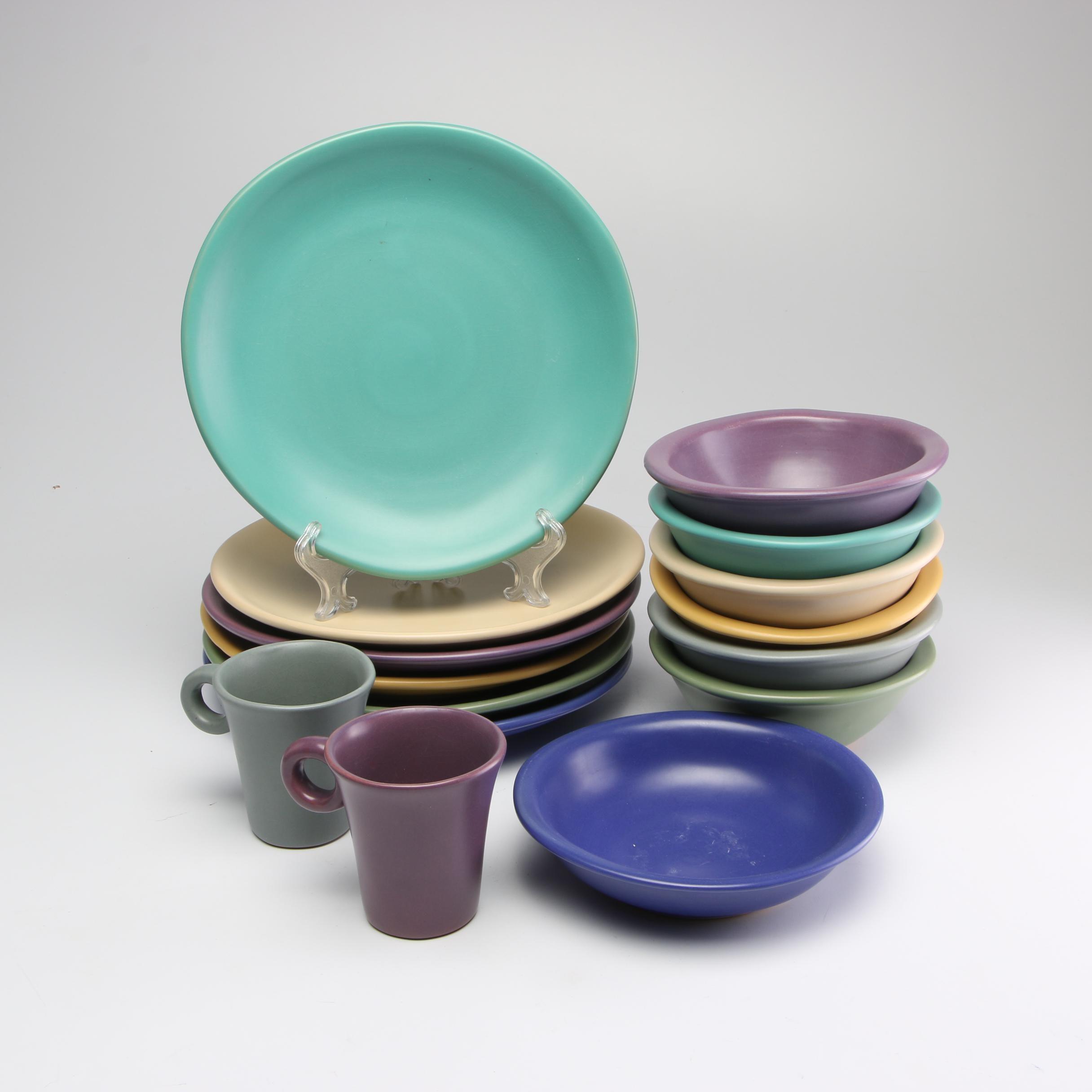 Luna García Thrown Stoneware Dinnerware, 1990s