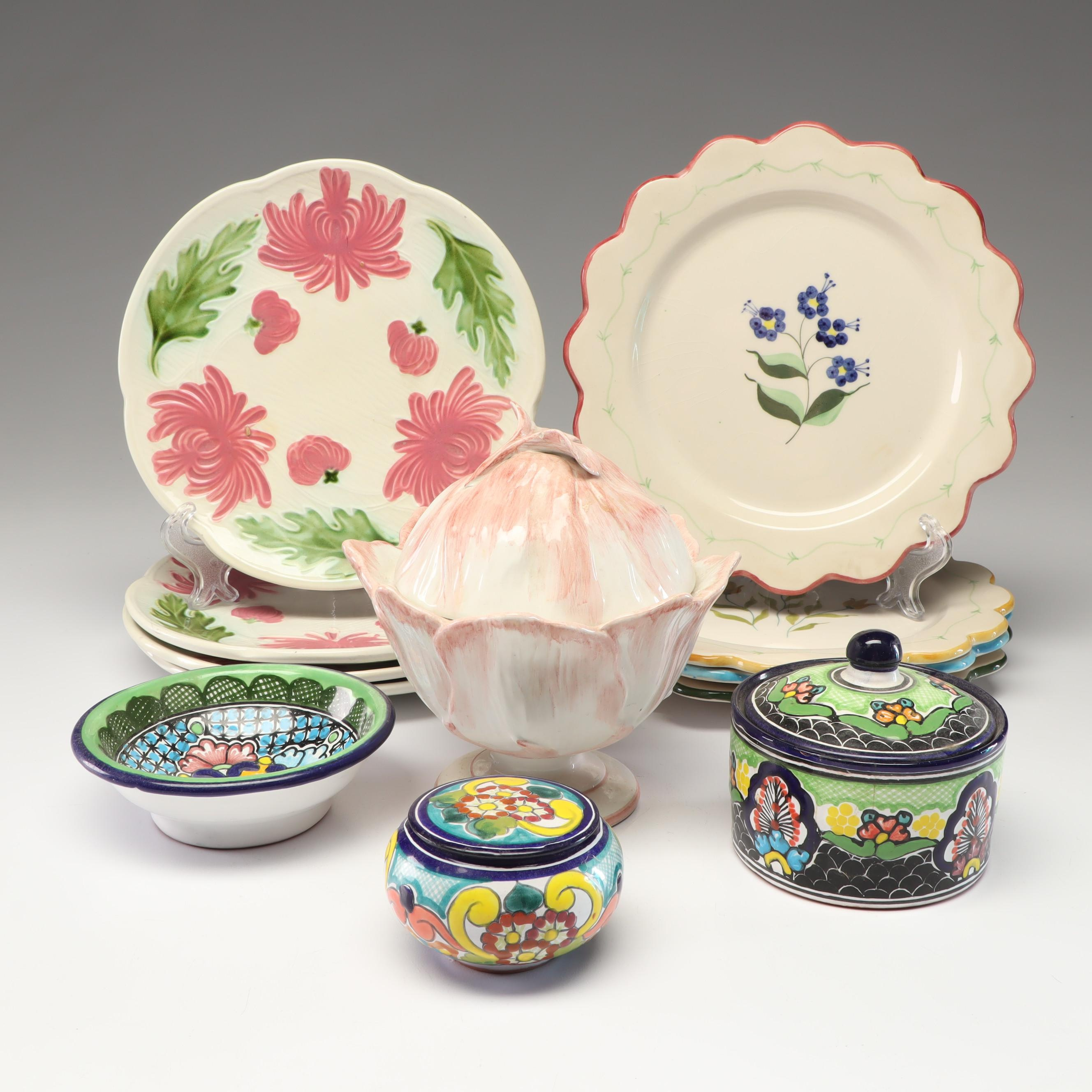 Talavera Hand-Painted Tableware with Schramberg and Others