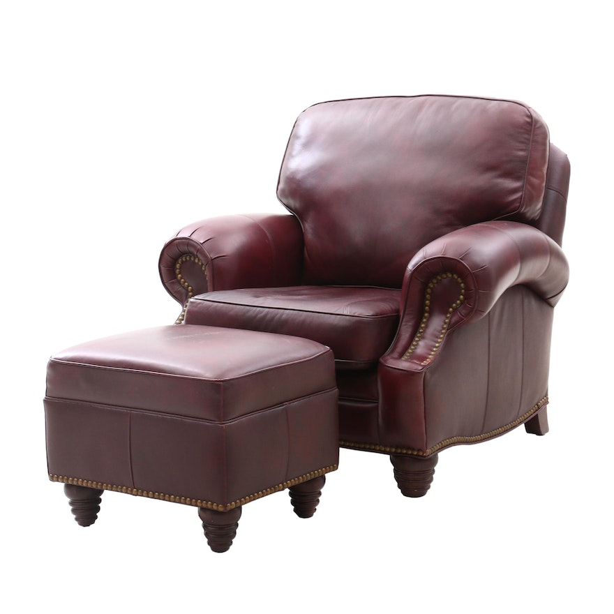 Enjoyable Contemporary Barcalounger Wayne Phillips Collection Leather Chair And Ottoman Andrewgaddart Wooden Chair Designs For Living Room Andrewgaddartcom
