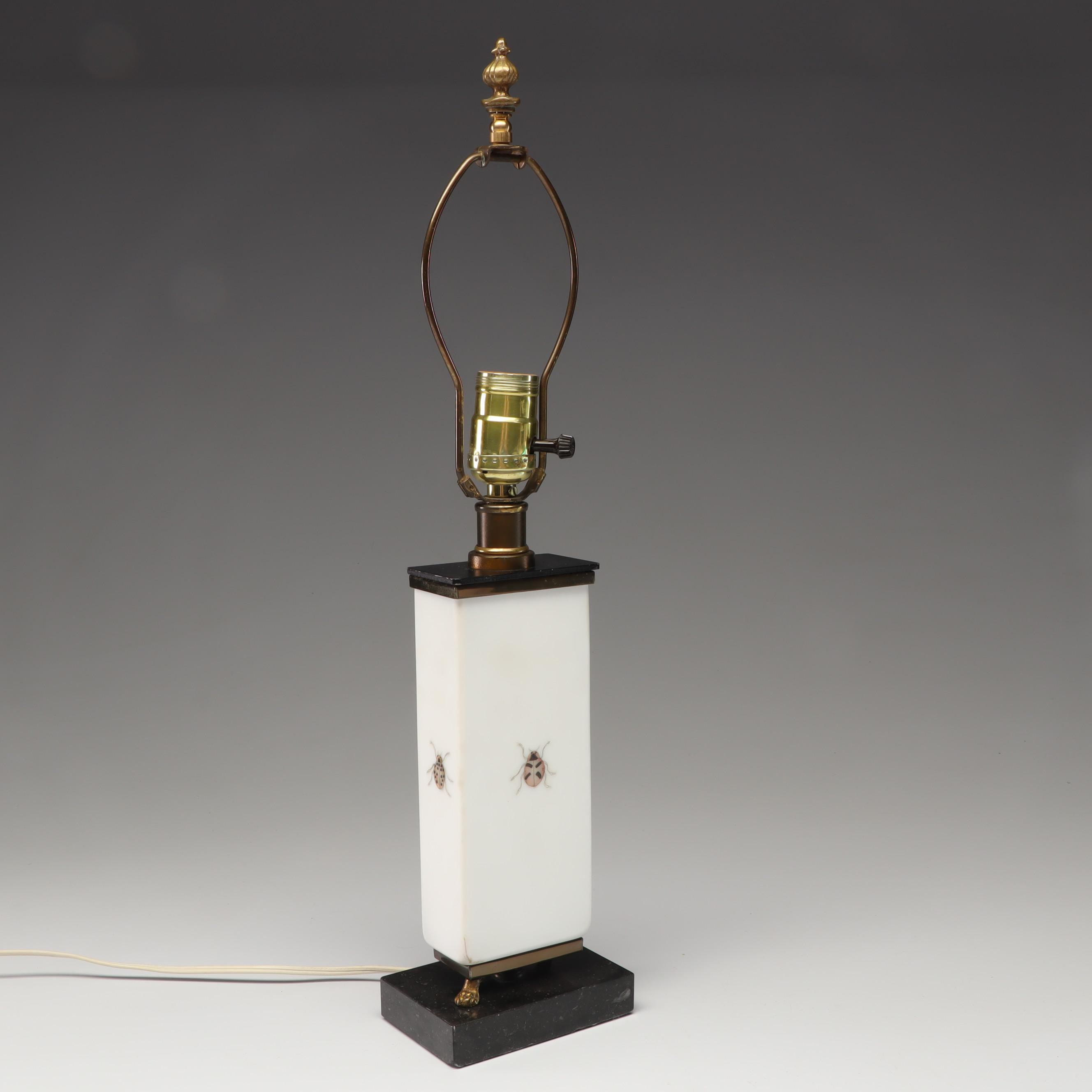"Ceramic ""Coccinella"" Ladybug Lamp"