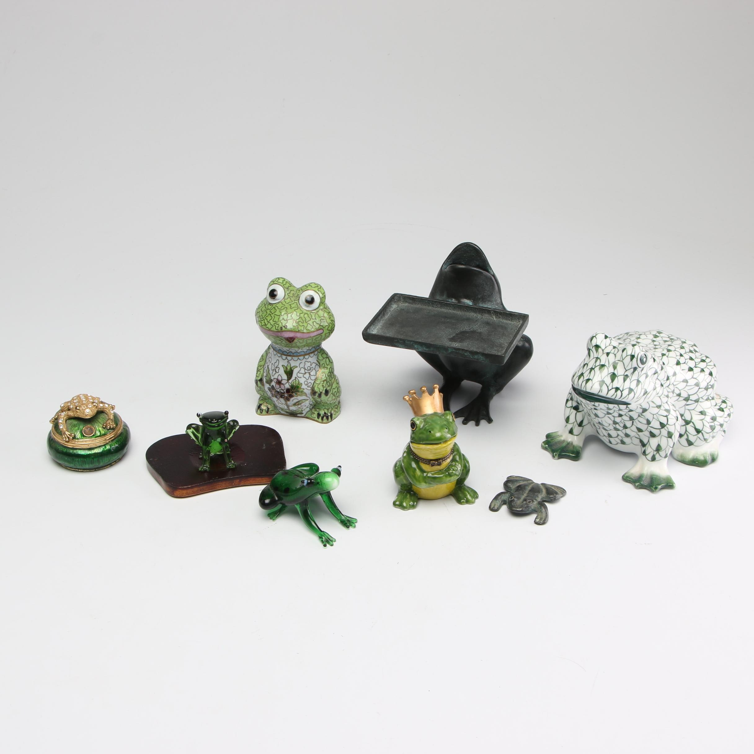 Andrea by Sadek and Other Decorative Frog Figurines, Late 20th Century