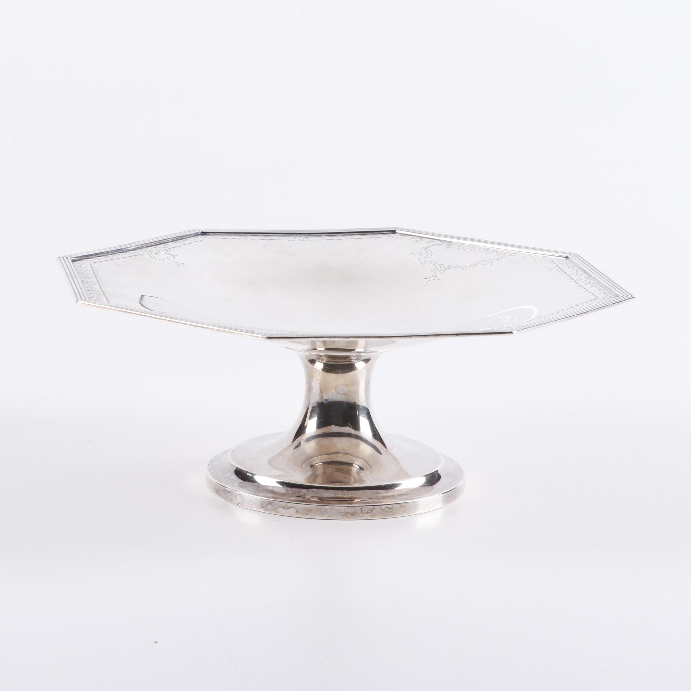 """A. Stonewell """"Queen Anne"""" Sterling Silver Compote"""
