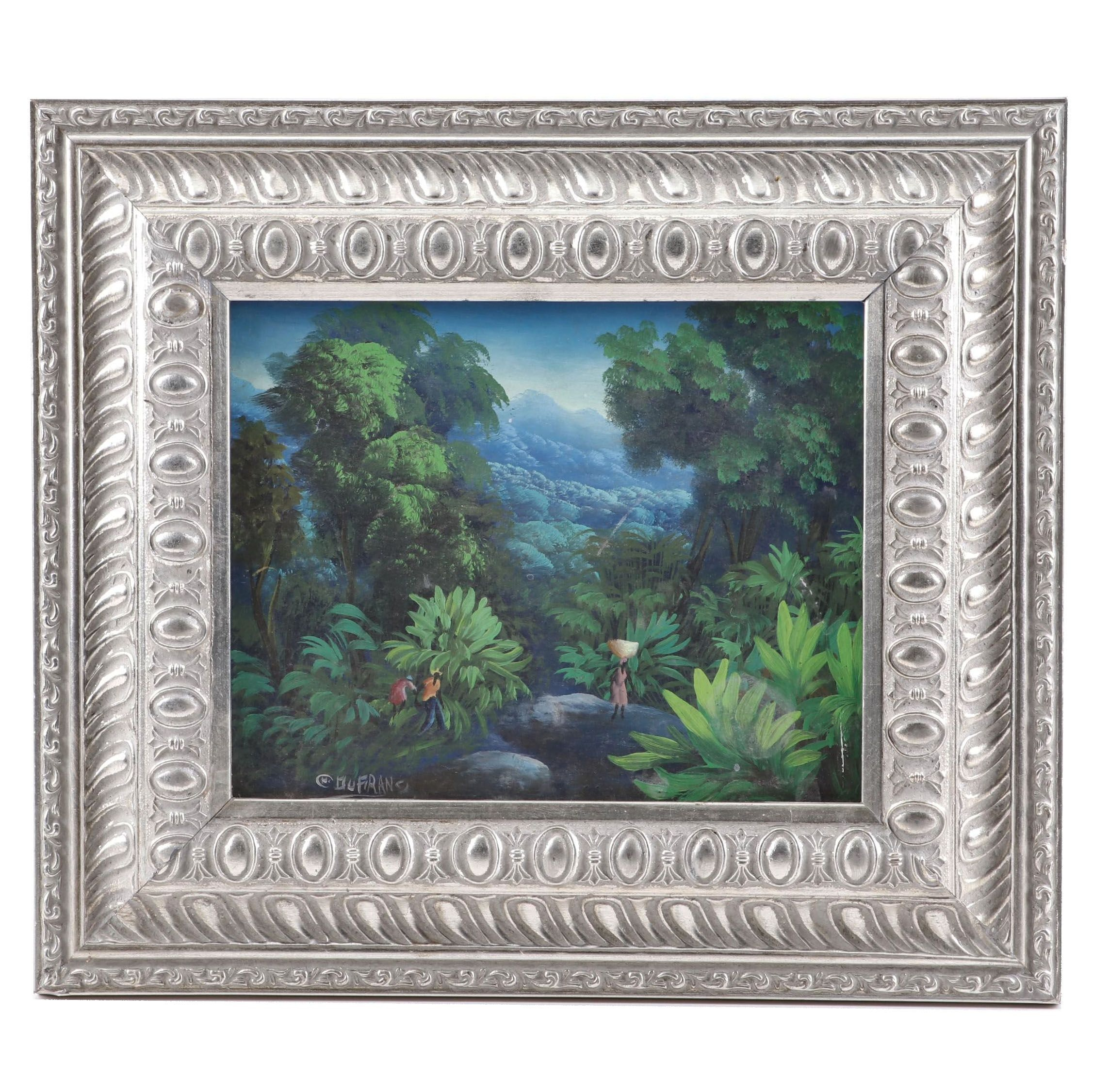 Charles DuFranc Acrylic Landscape Painting, Mid 20th Century