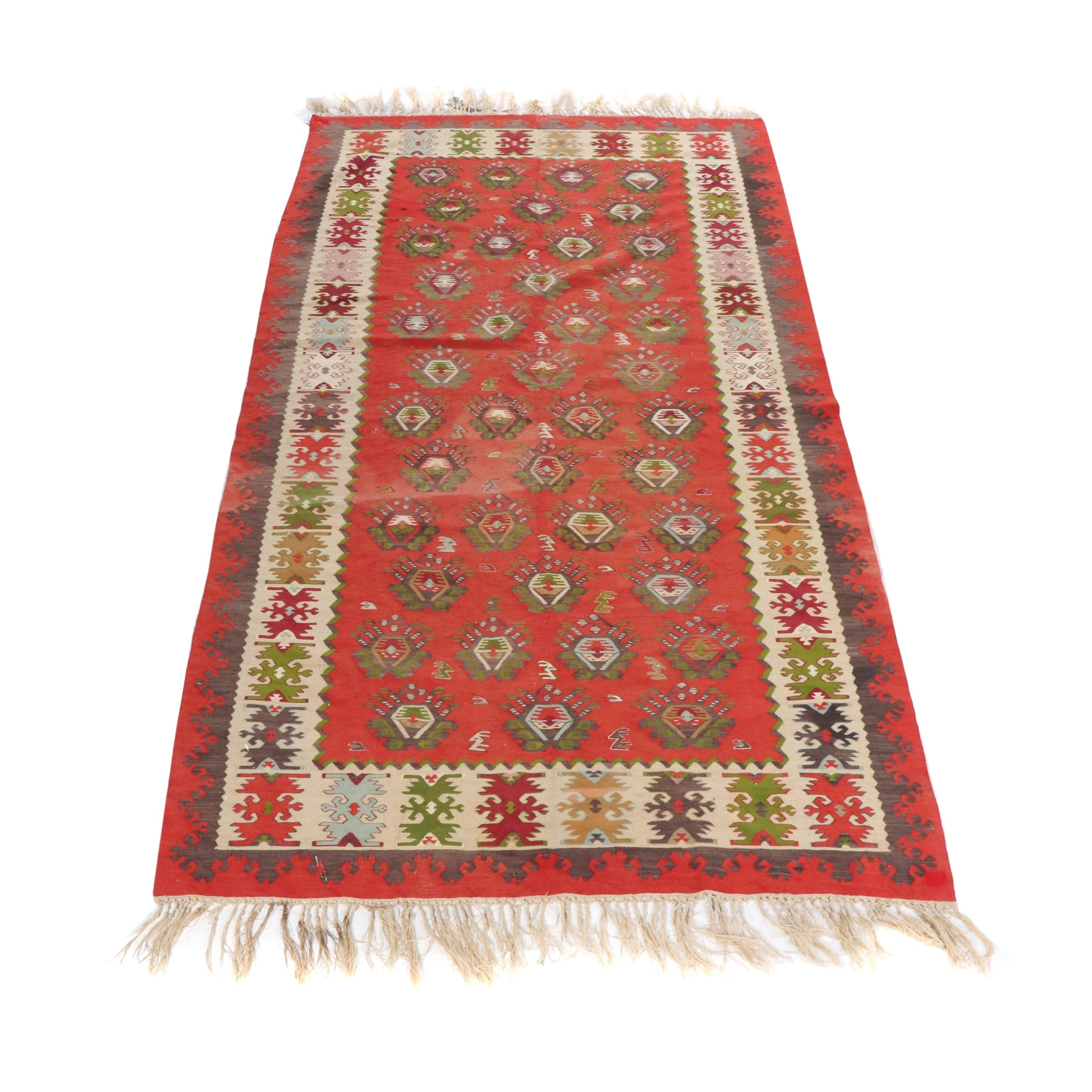 Handwoven Turkish Wool Kilim Rug