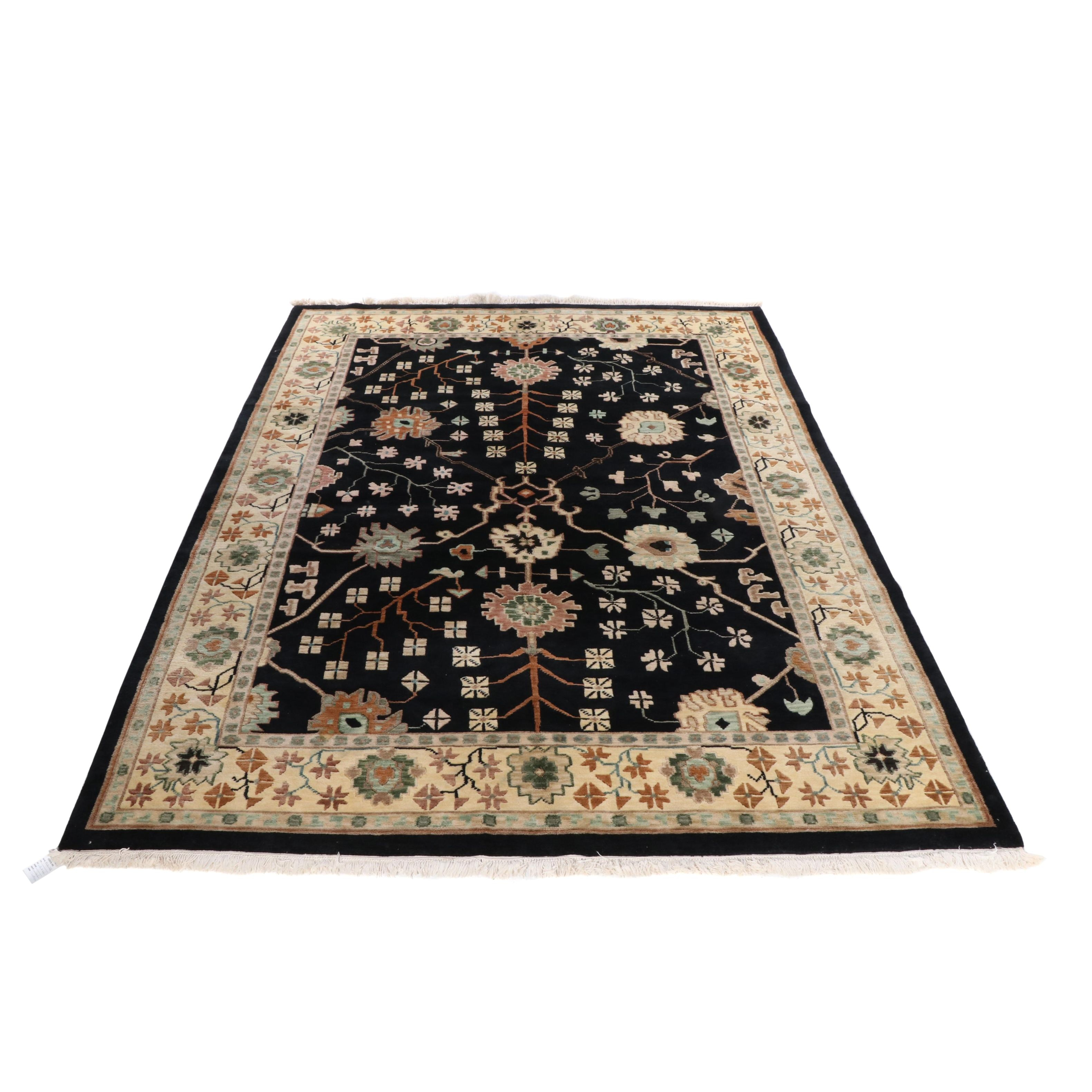 Hand-Knotted Nepalese Tibetan Wool Rug