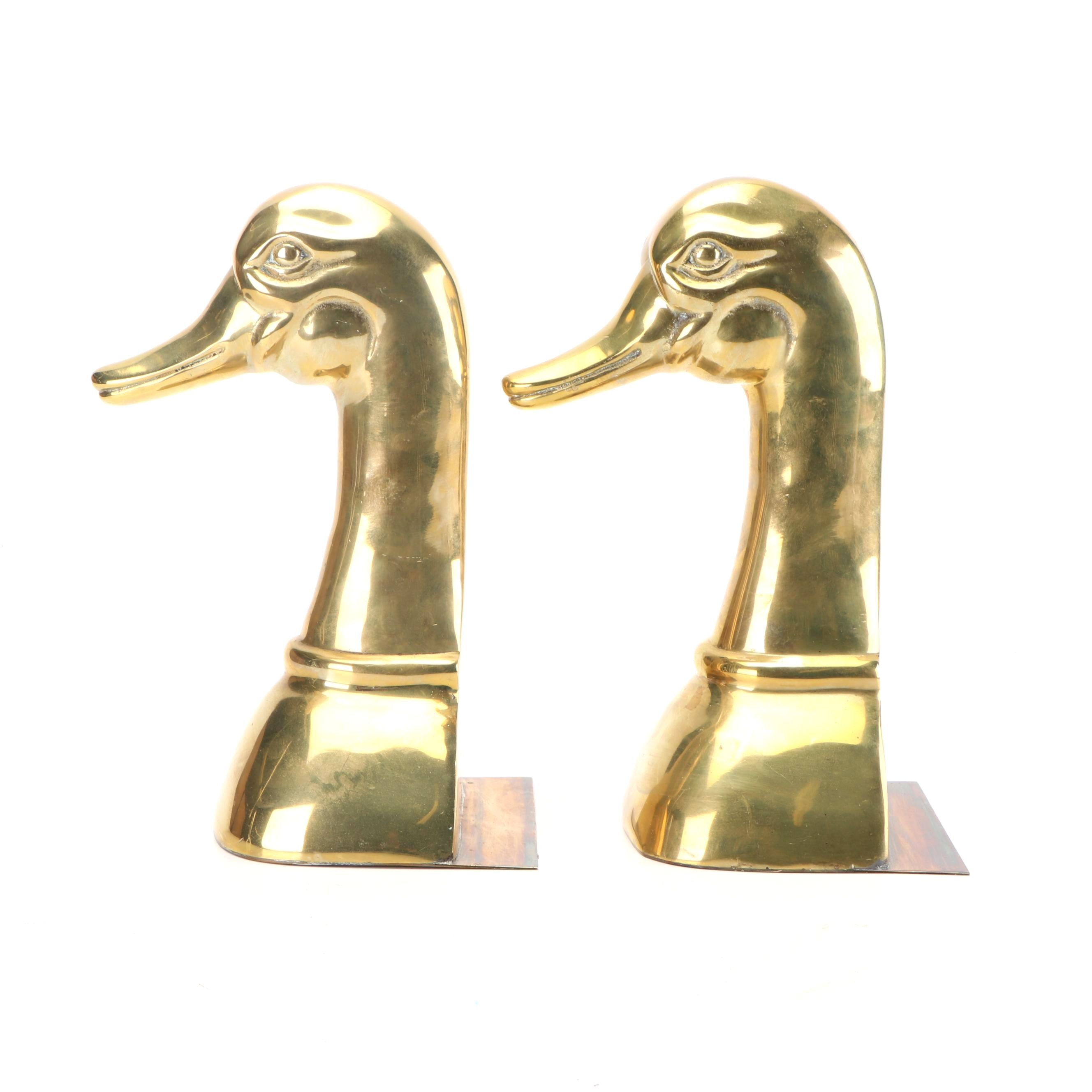 Sarreid Polished Brass Duck Bookends