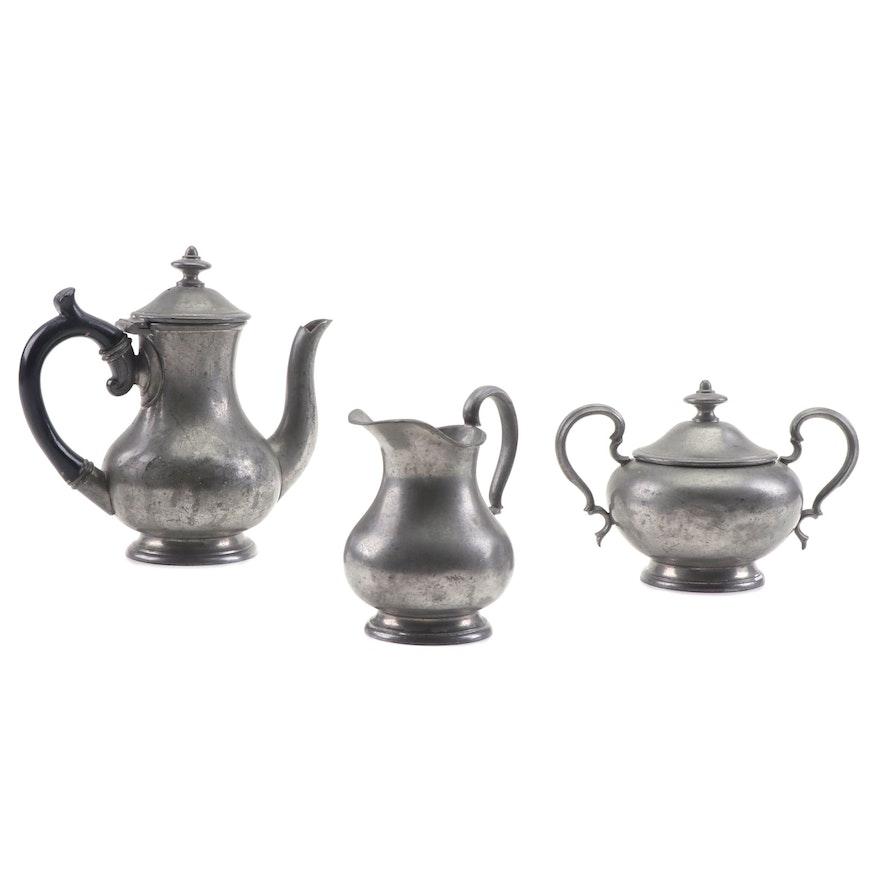 James Dixon & Sons Pewter Tea Set, Circa 1900