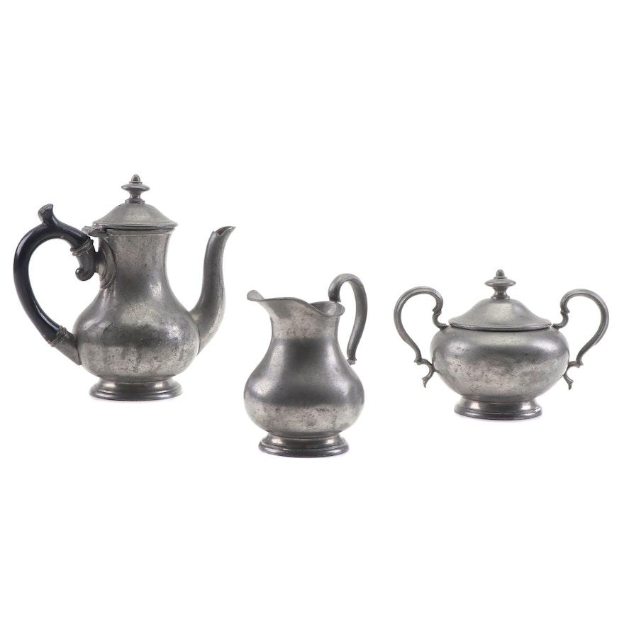James Dixon & Sons Pewter Tea Set, Circa 1900