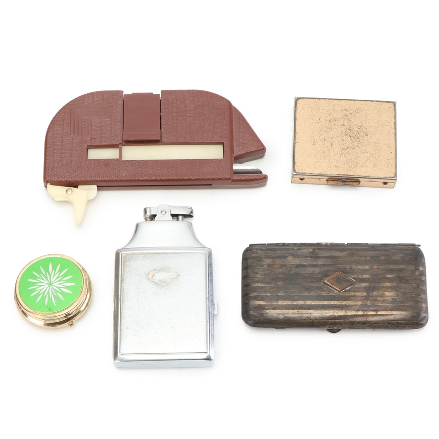 Vintage Ronson Cigarette Case and Lighter and other Tobaccania Items