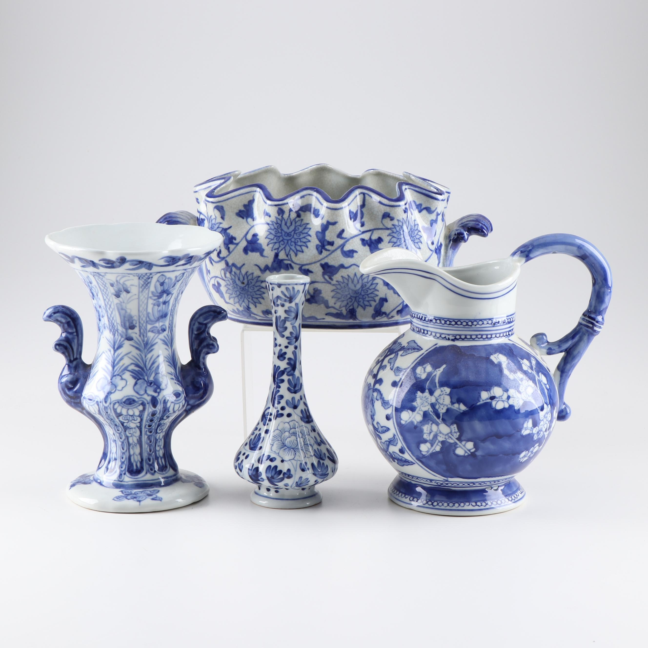 Blue and White Asian Inspired Tableware