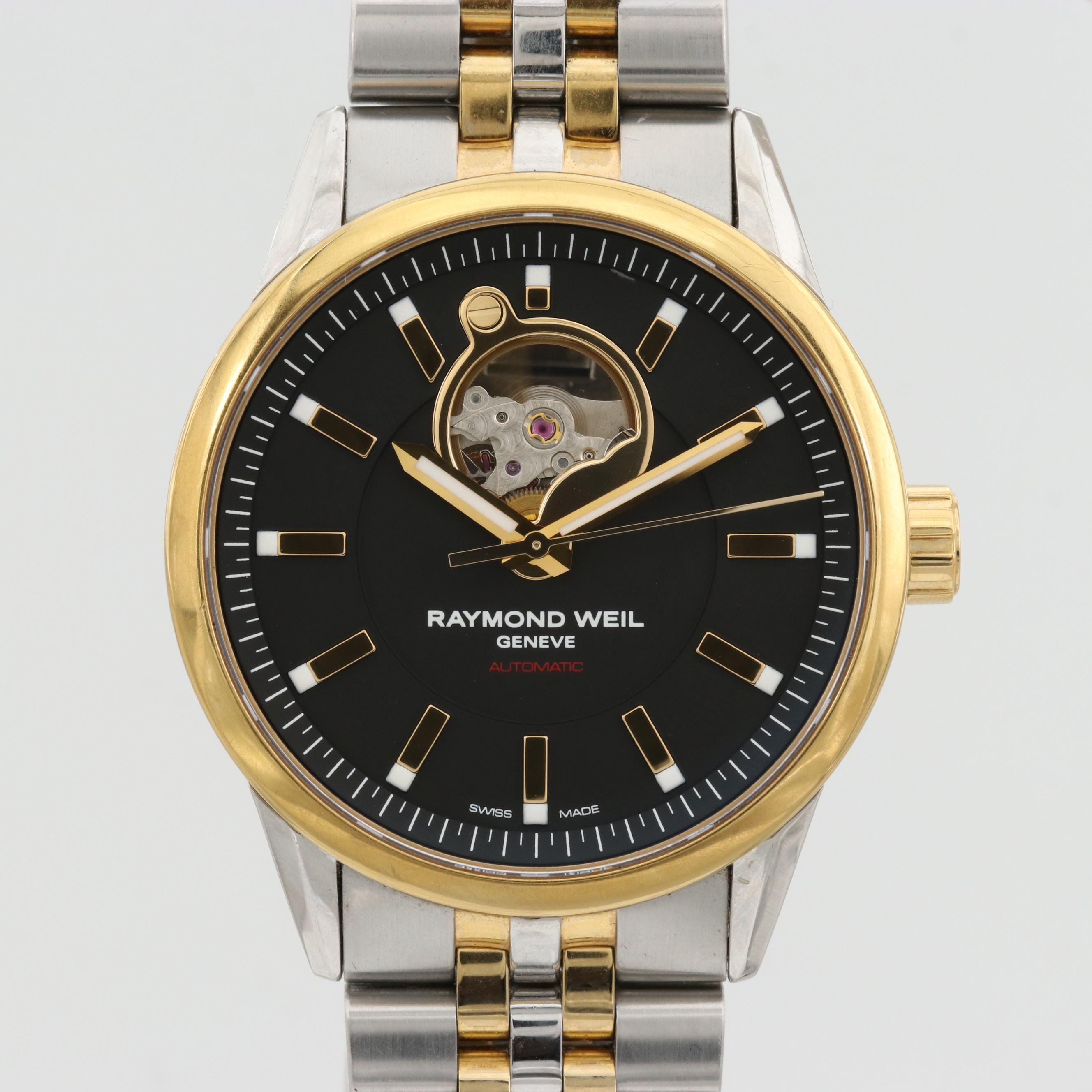 "Raymond Weil ""Freelancer"" Two-Tone Stainless Steel Wristwatch"