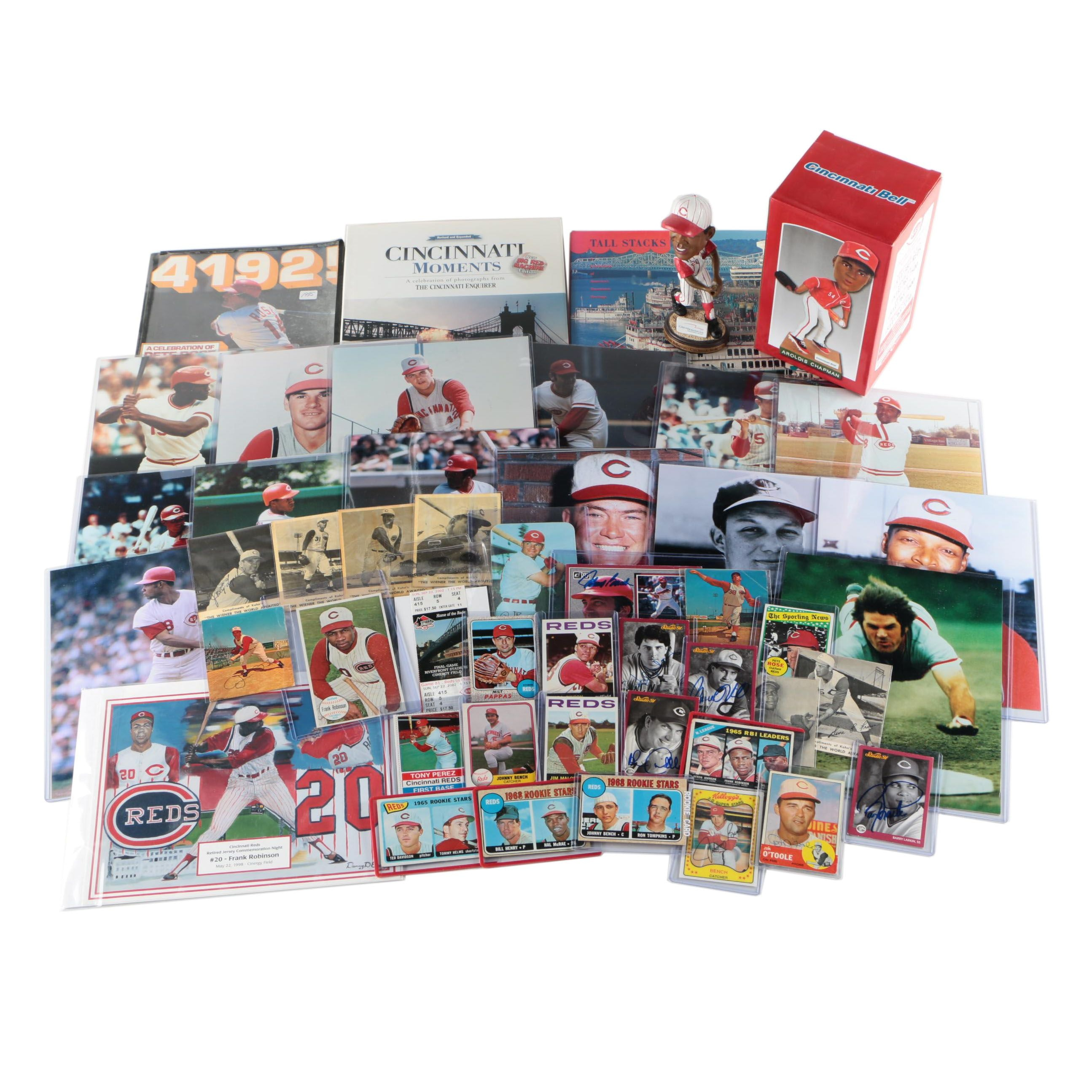 Cincinnati Reds Vintage Collection Including Autographs and Rookie Cards