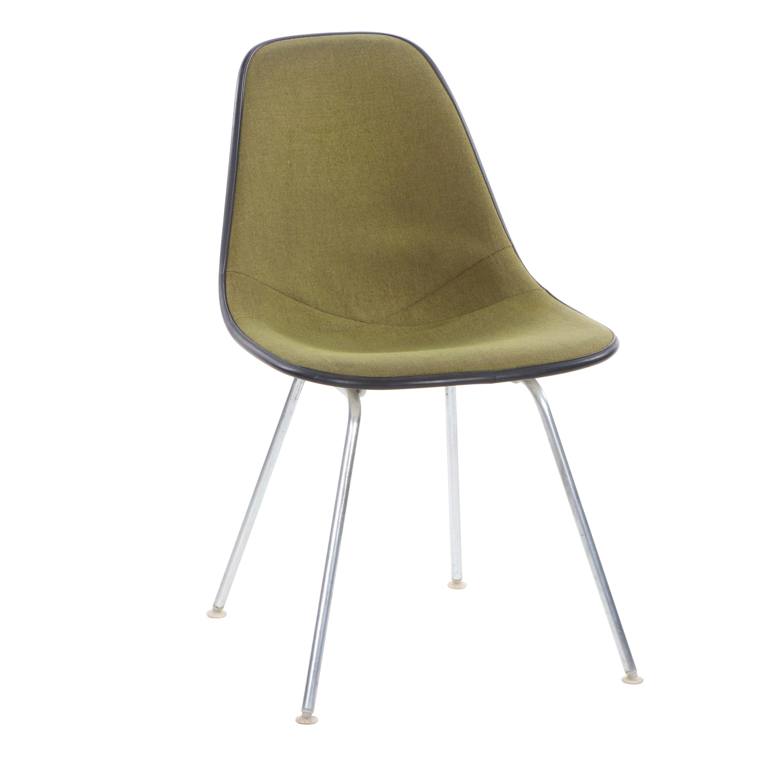 Charles and Ray Eames for Herman Miller Upholstered Fiberglass Side Chair