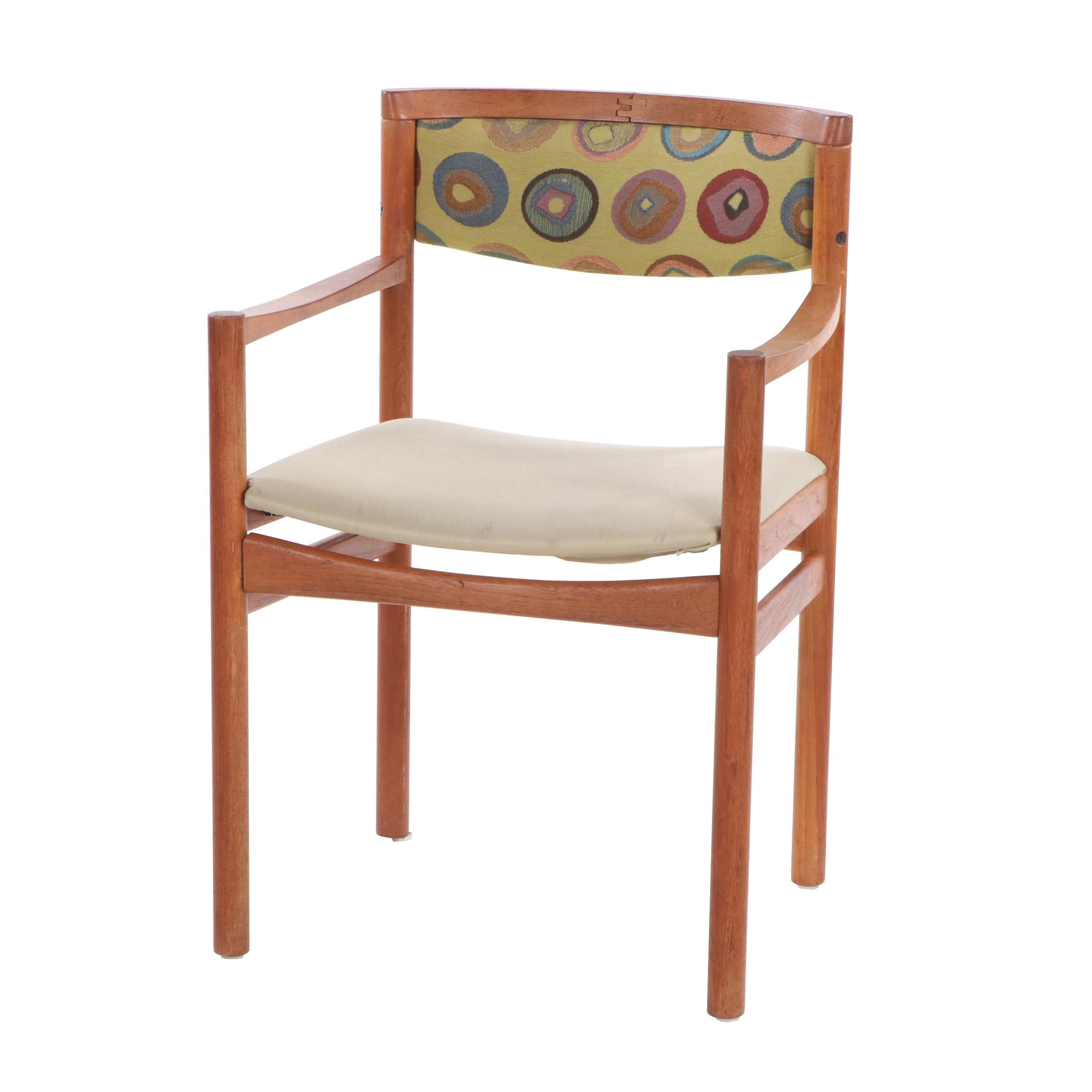 Danish Modern SAX Mobler Upholstered Teak Armchair, Mid-20th Century