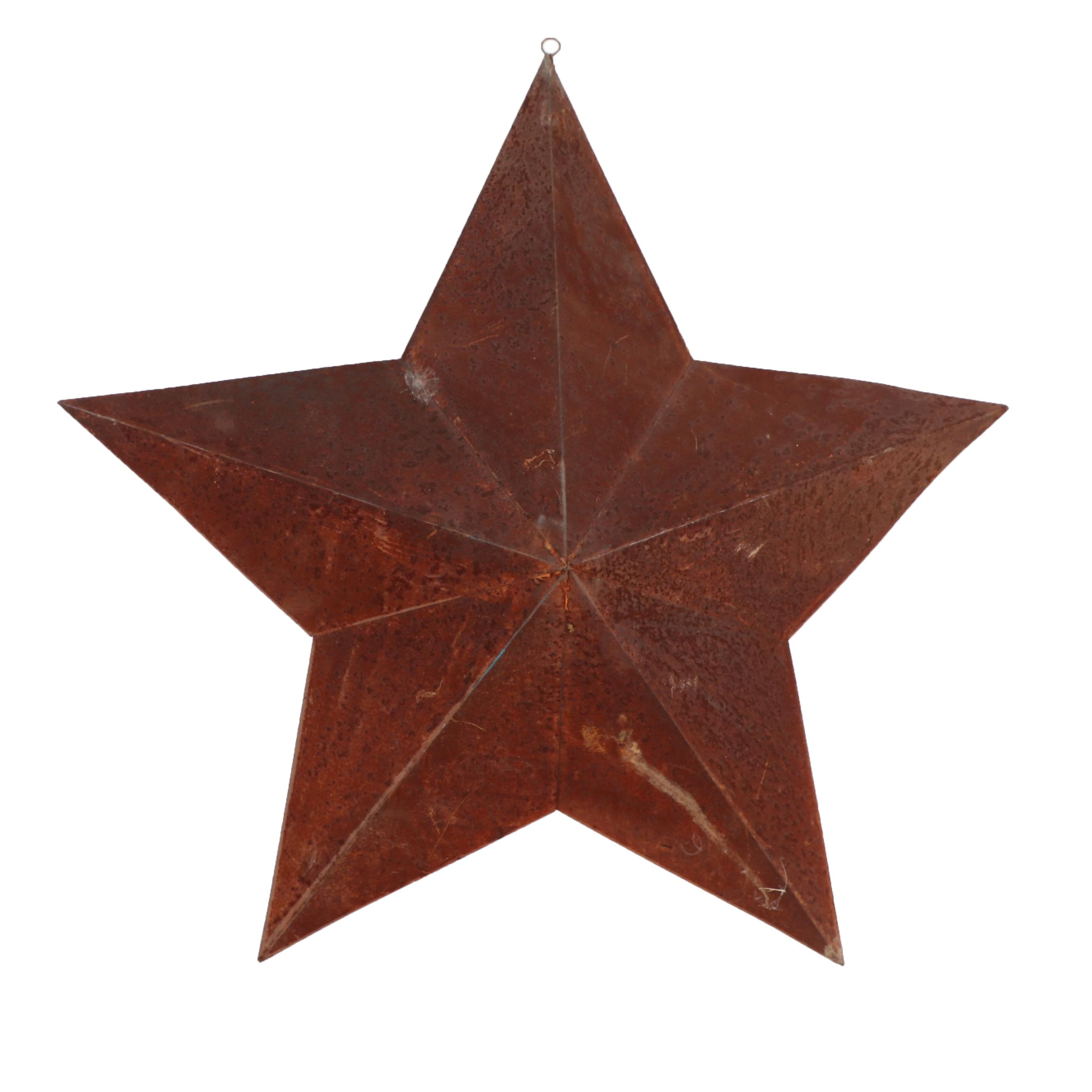 Large Metal Star Hanging Plaque