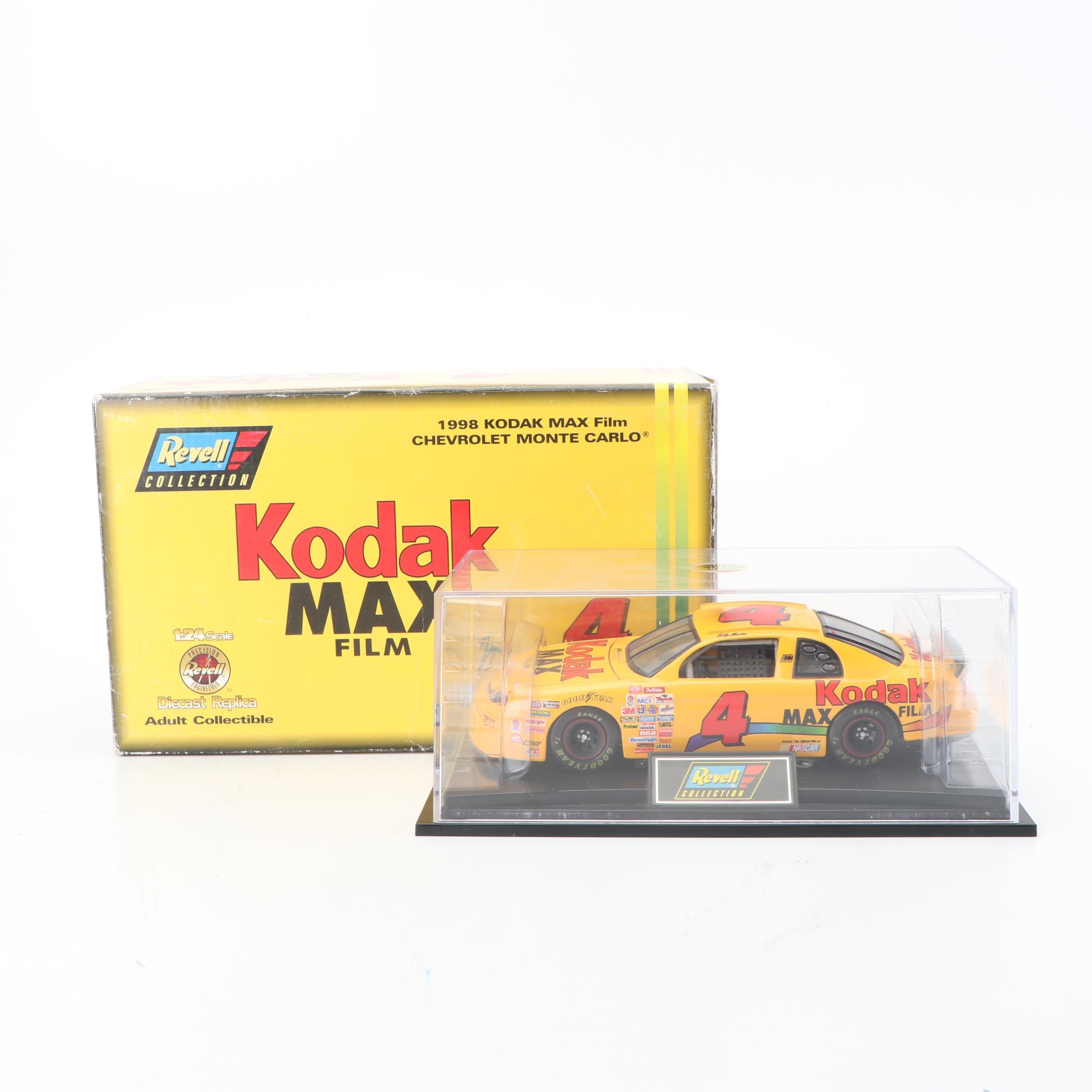 Kodak Max Bobby Hamilton Diecast Replica NASCAR Race Car