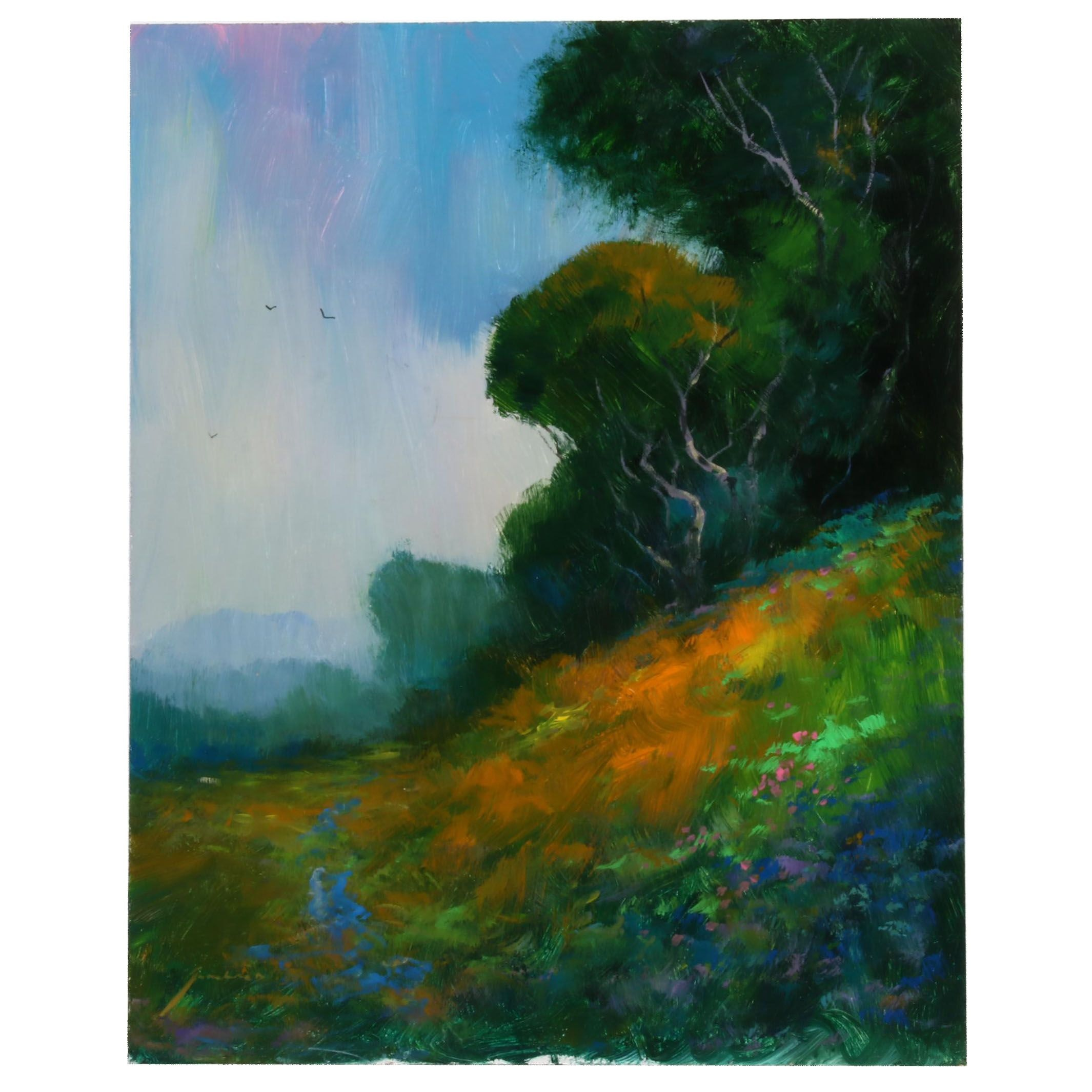 "Michael Schofield Oil Painting ""Hill Crest"""
