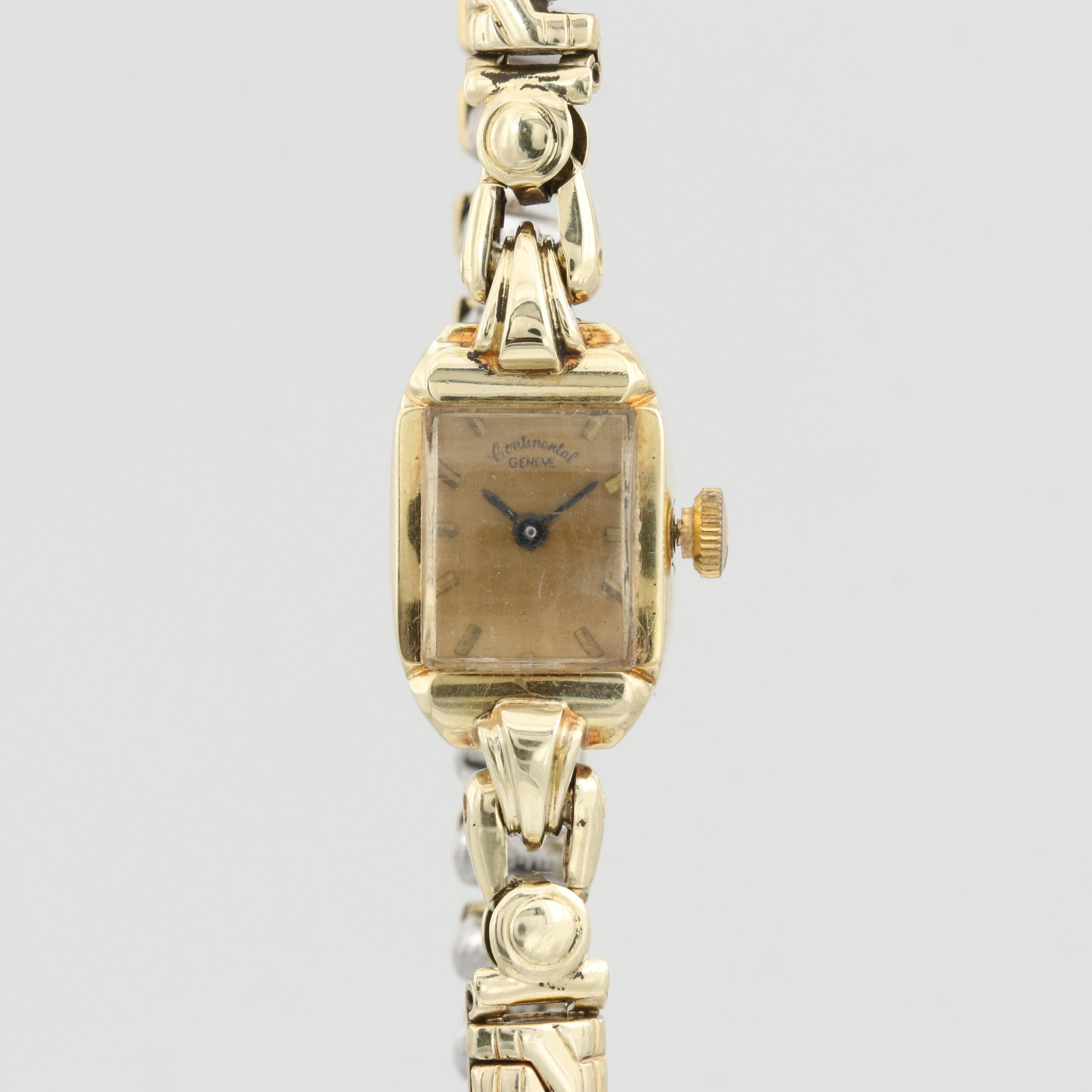 Continental 14K Yellow Gold Wristwatch