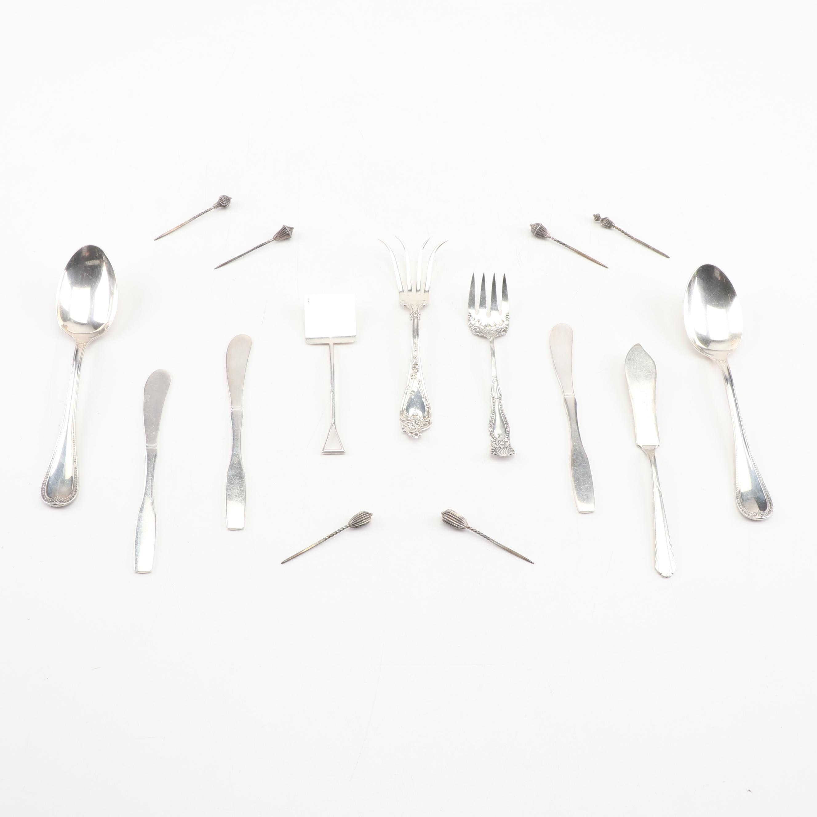 Flatware and Serving Utensils including Christofle and Sterling Silver
