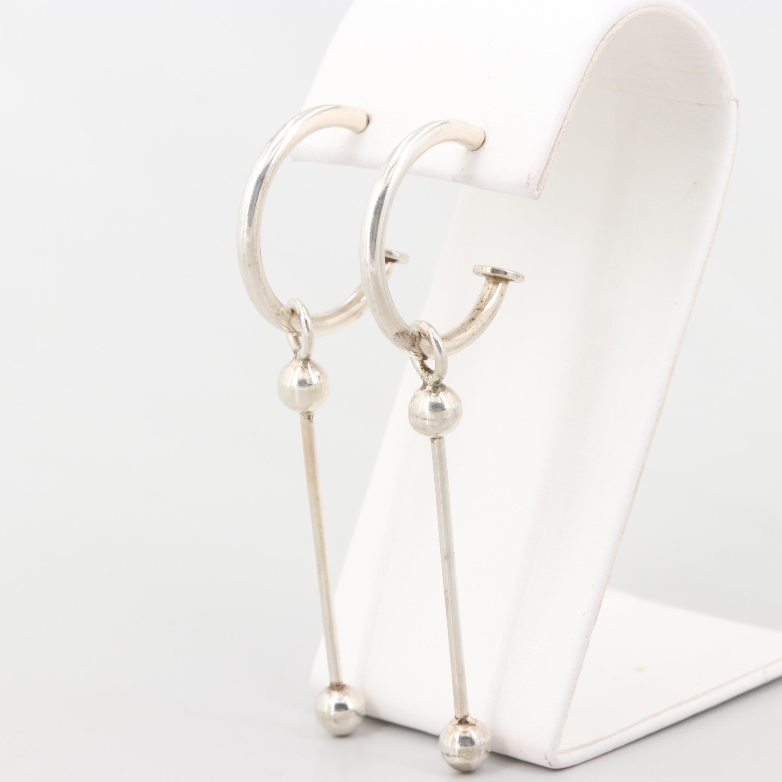 Sterling Silver Hoop Earrings and Jackets