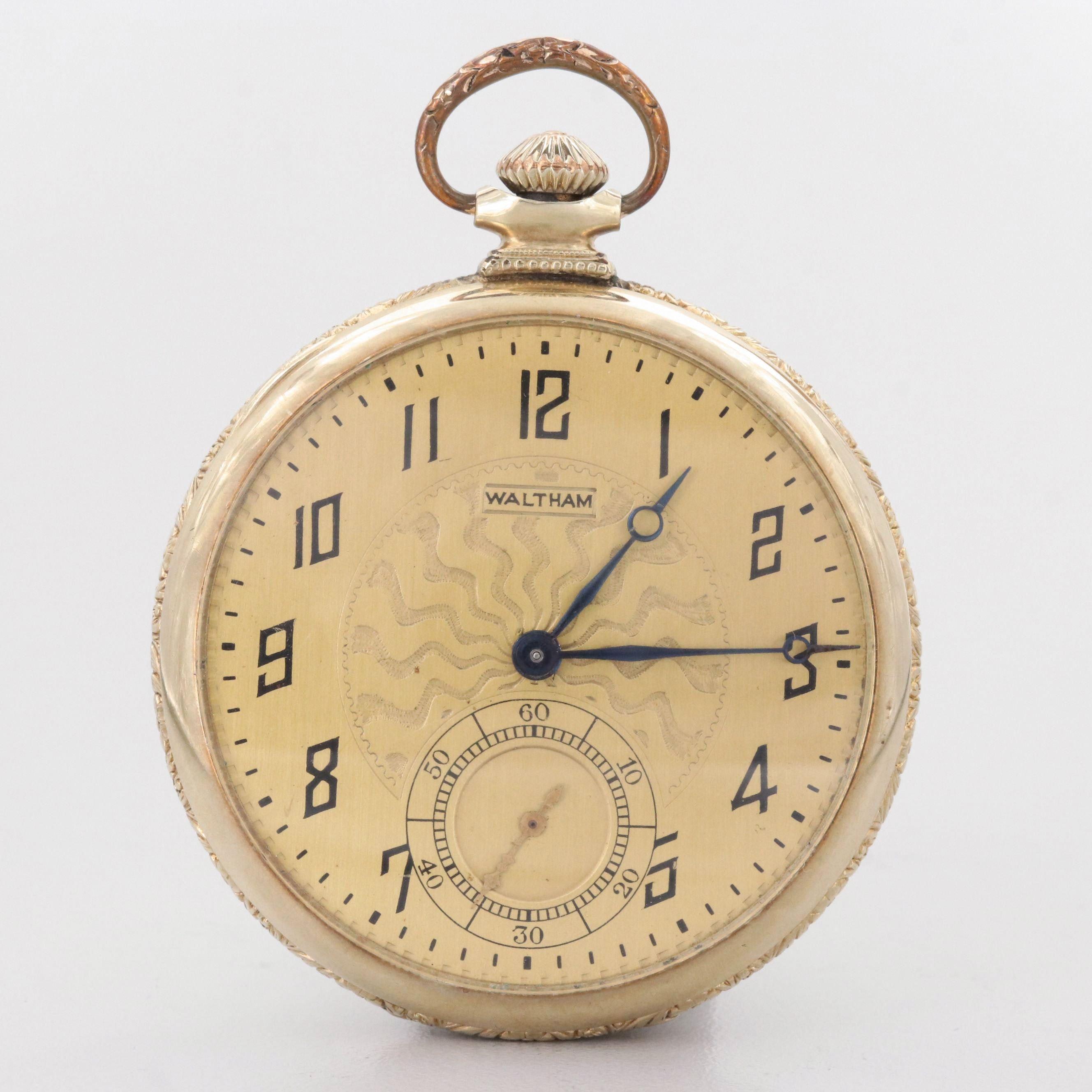 Vintage Waltham Gold Filled Pocket Watch, 1920