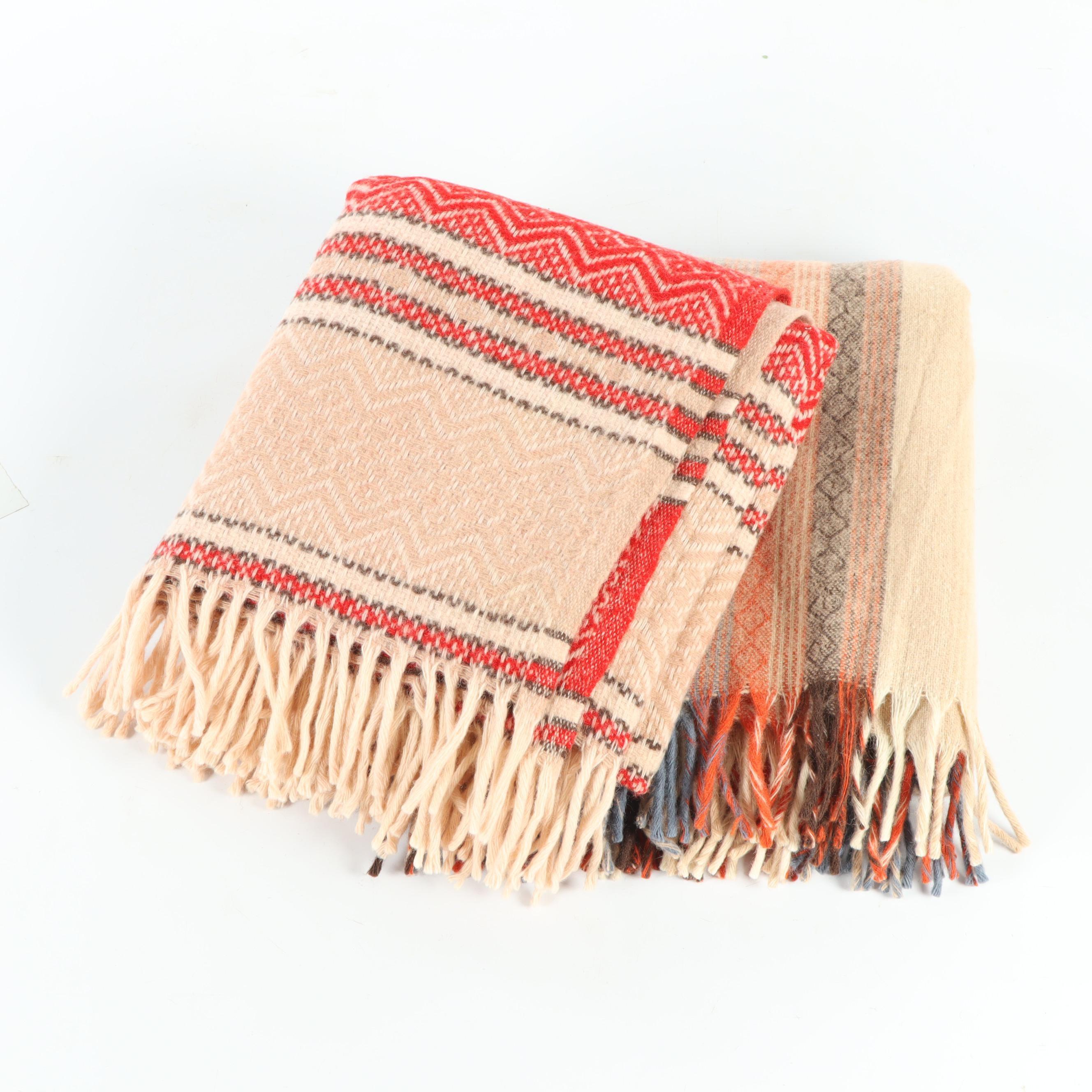 Faribo Plaid Wool Blankets, Vintage
