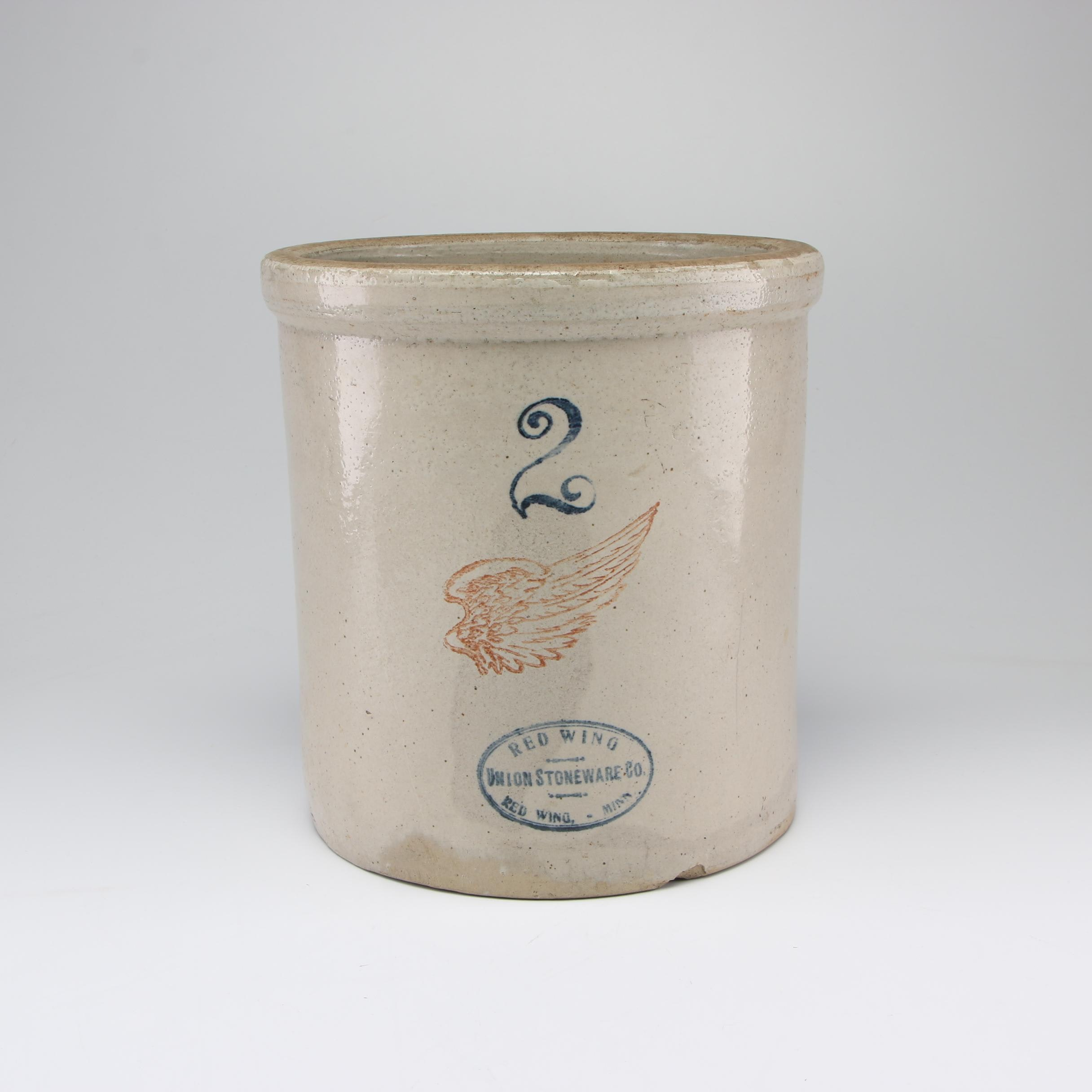 Red Wing Two Gallon Stoneware Crock