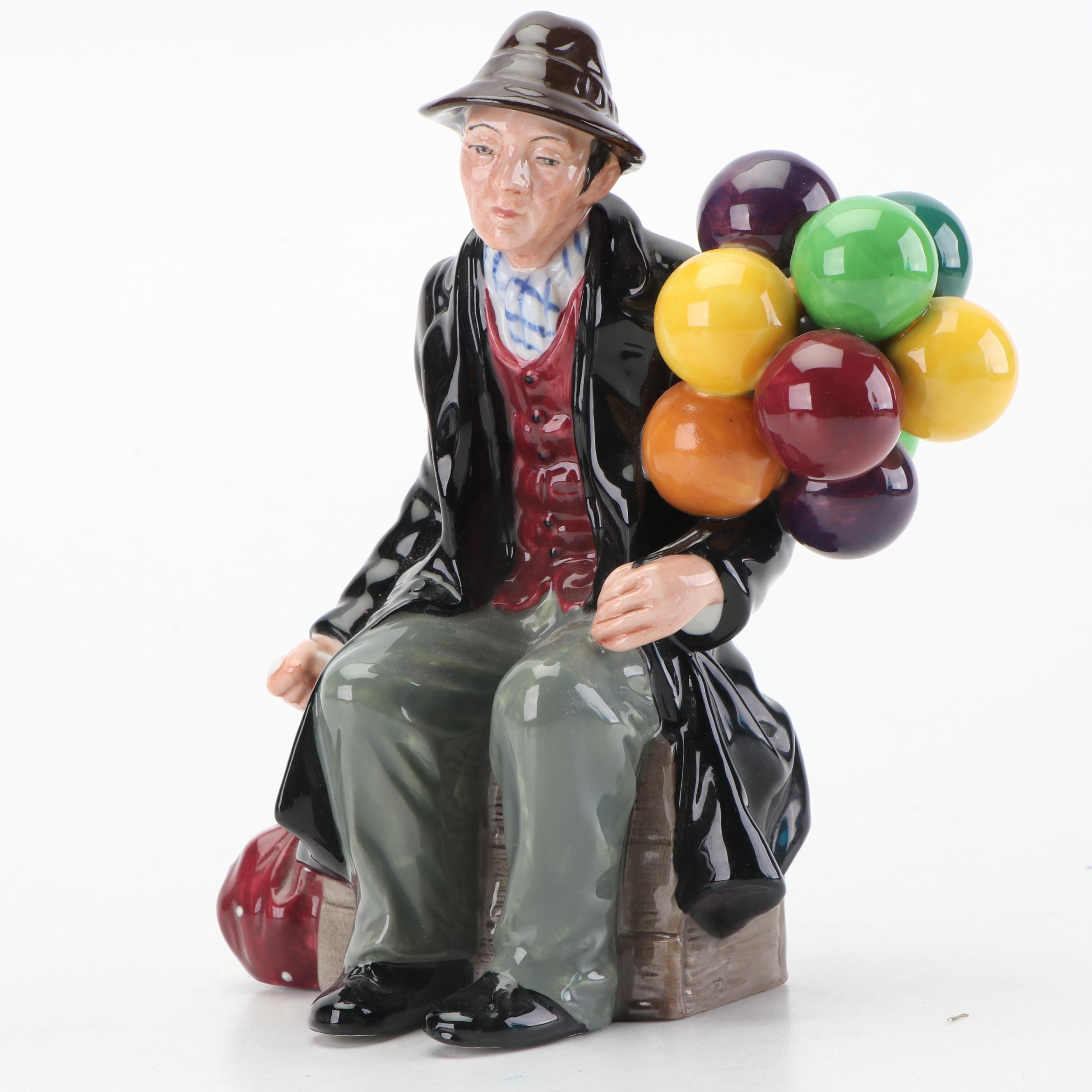 "Royal Doulton ""The Balloon Man"" Porcelain Figurine, Late 20th Century"