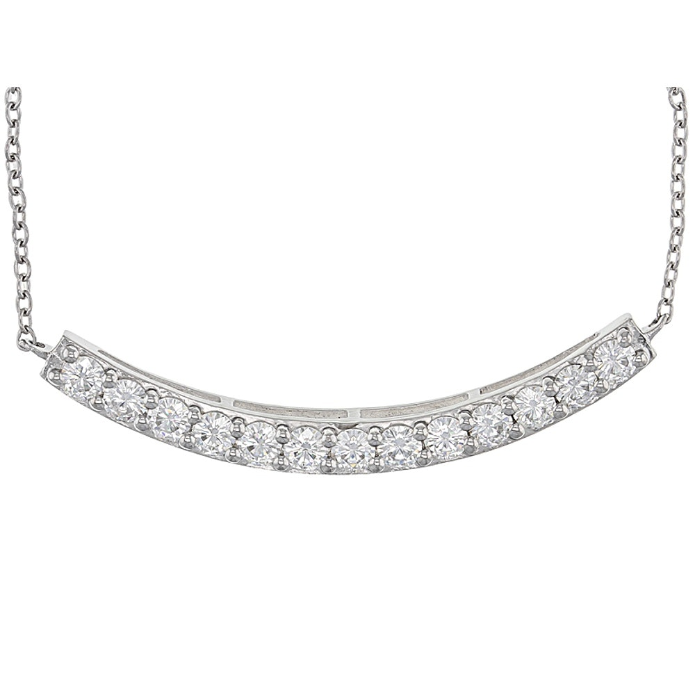 Sterling Silver Moissanite Necklace