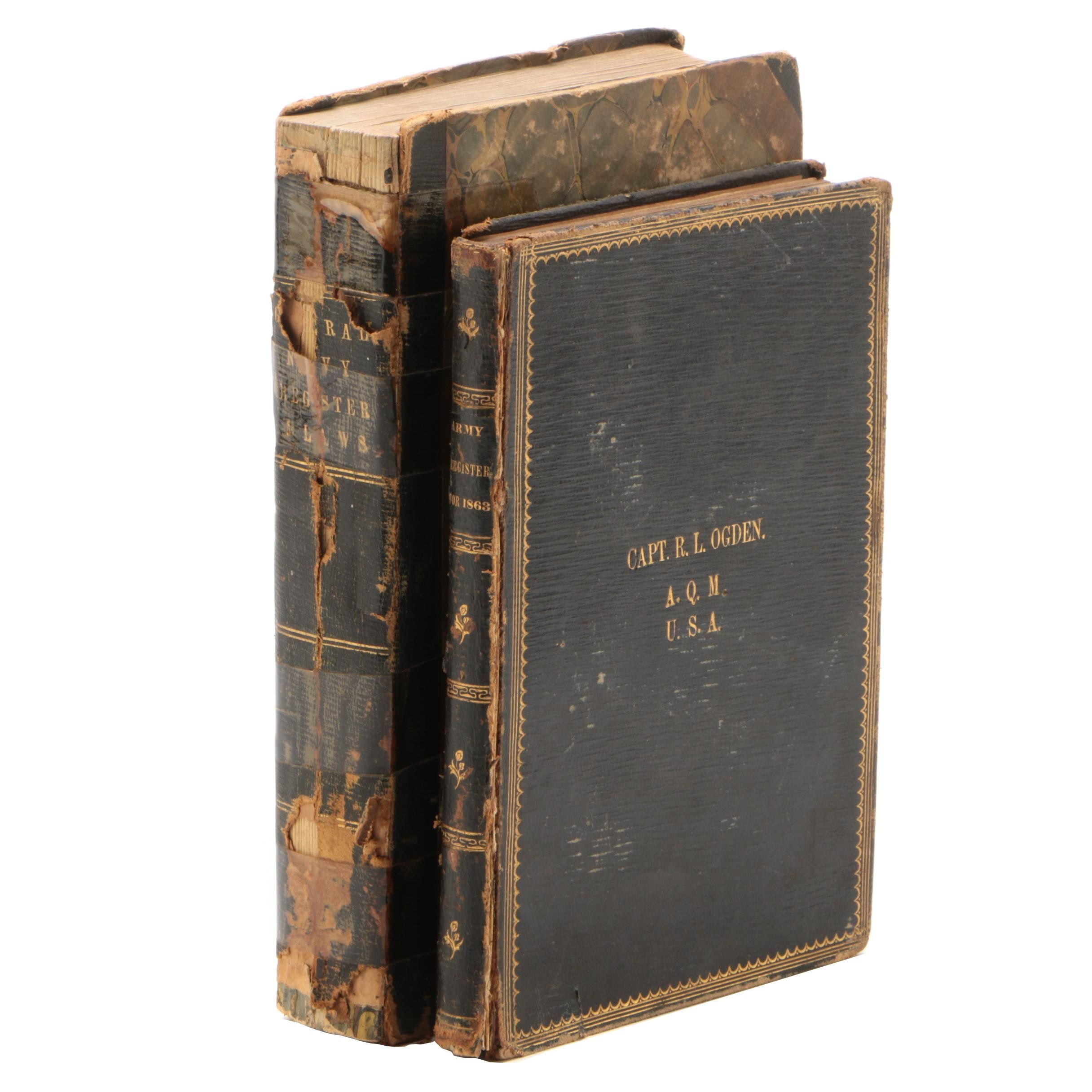 American Military Register Books, 1848 and 1863