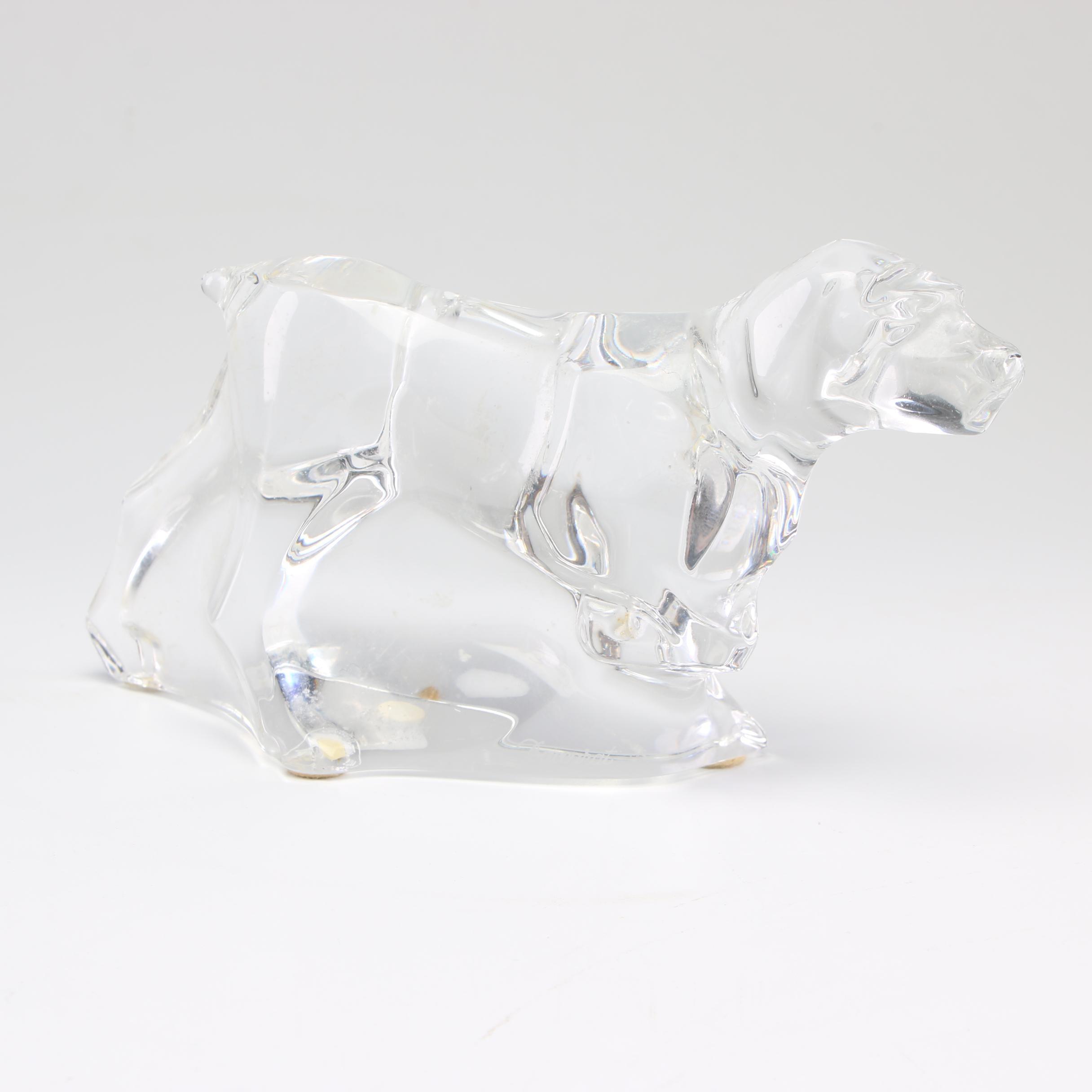Baccarat Crystal Dog Figurine