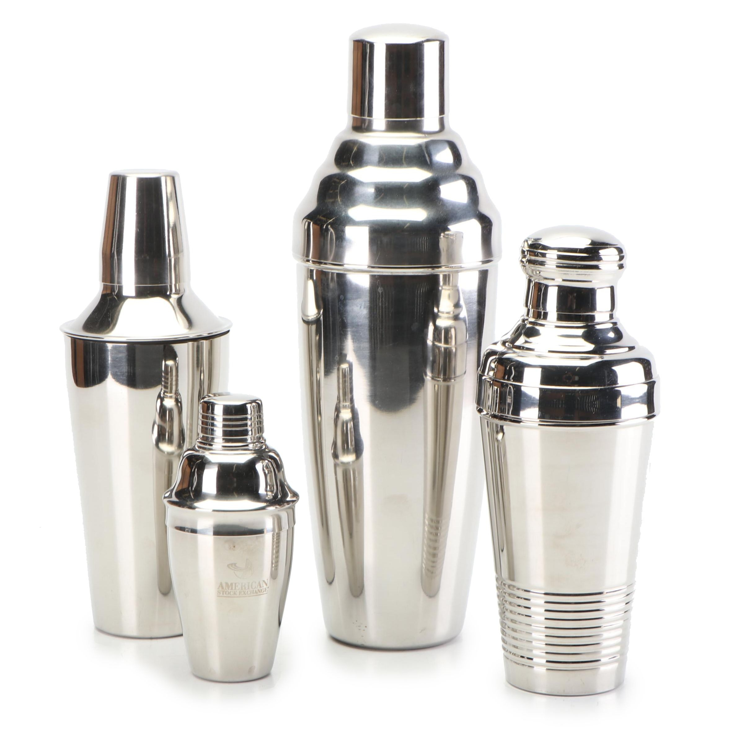 Stainless Steel Cocktail Shakers, Contemporary