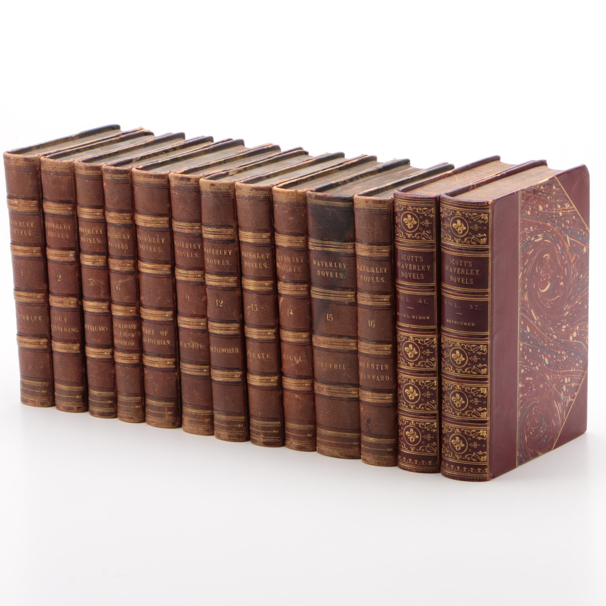"""Sir Walter Scott's """"Waverley Novels"""" Partial Set, 1841 and 1879"""