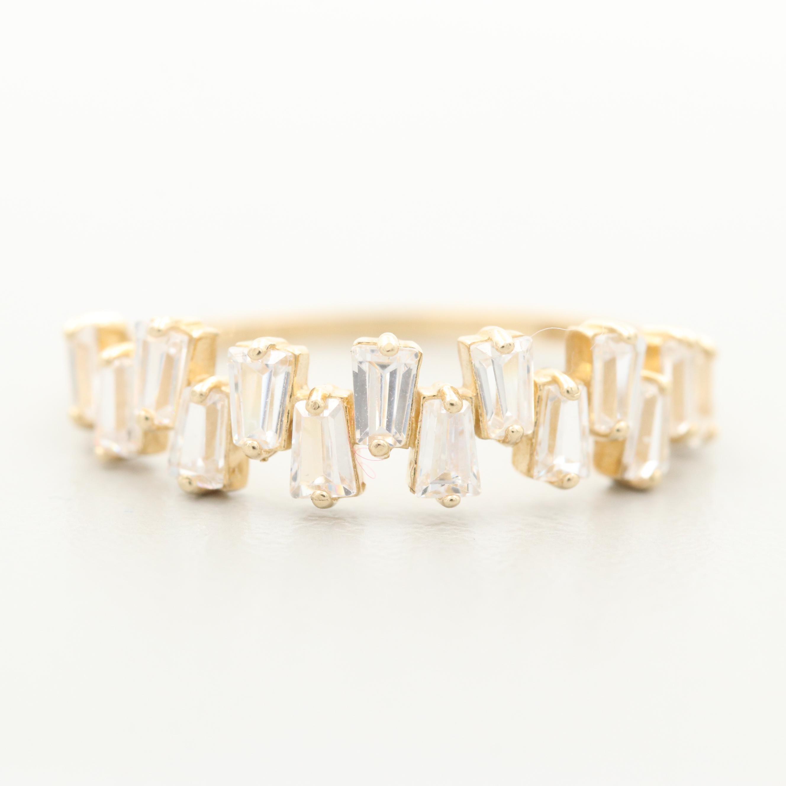 10K Yellow Gold Cubic Zirconia Ring