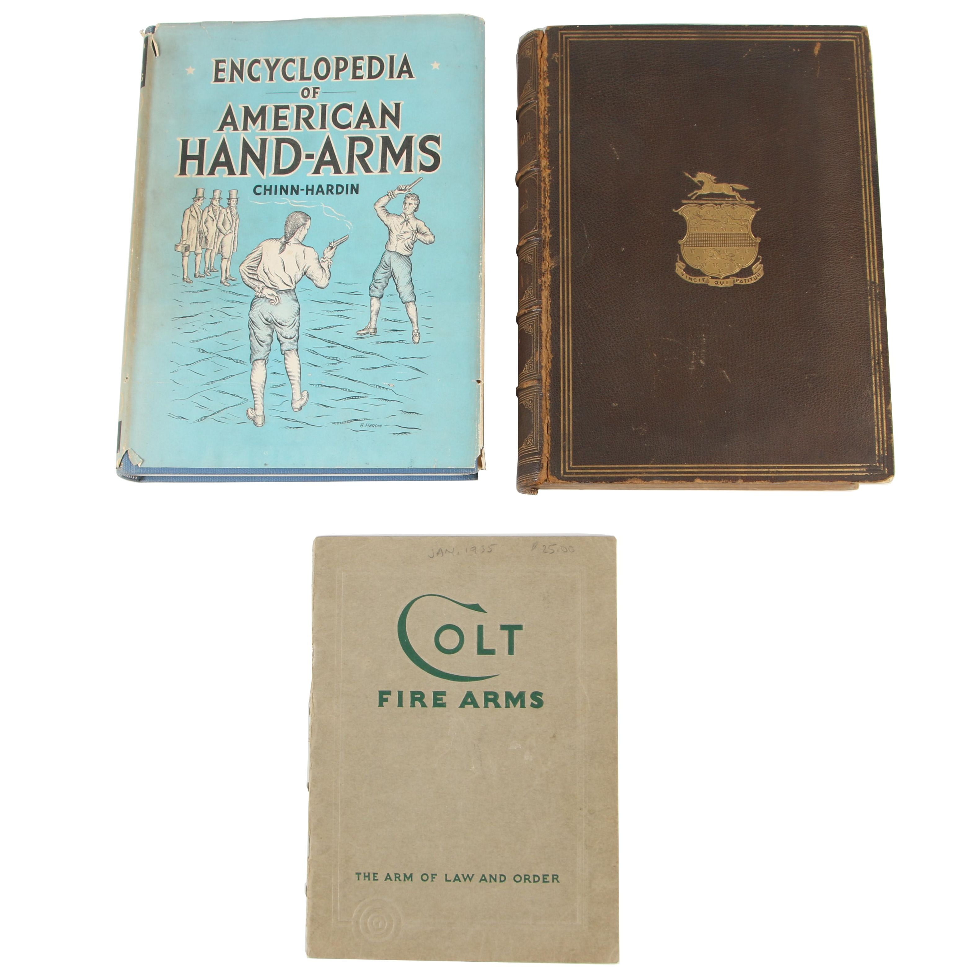 """Books on Firearms featuring First Edition """"Encyclopedia of American Hand Arms"""""""