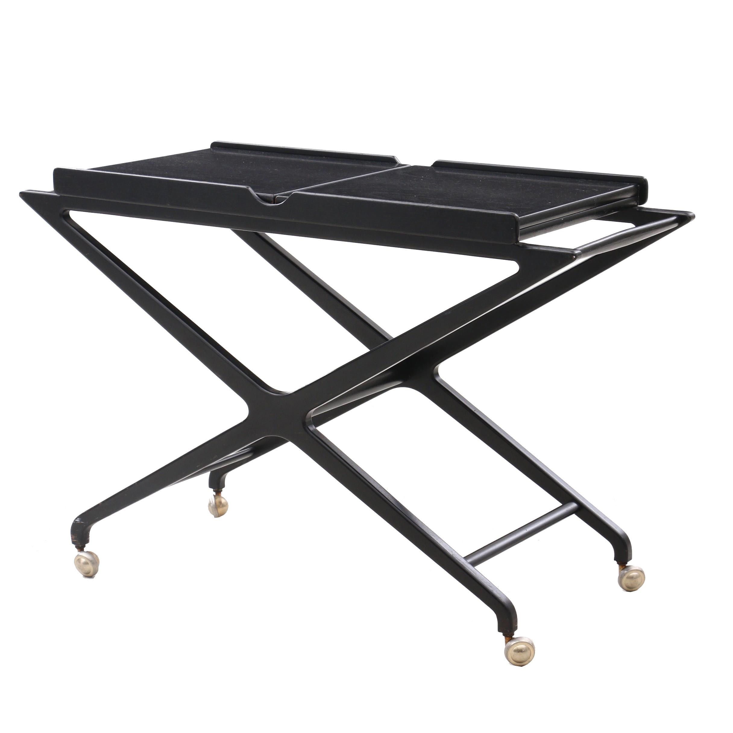Baker Rolling Accent Table with Folding Top