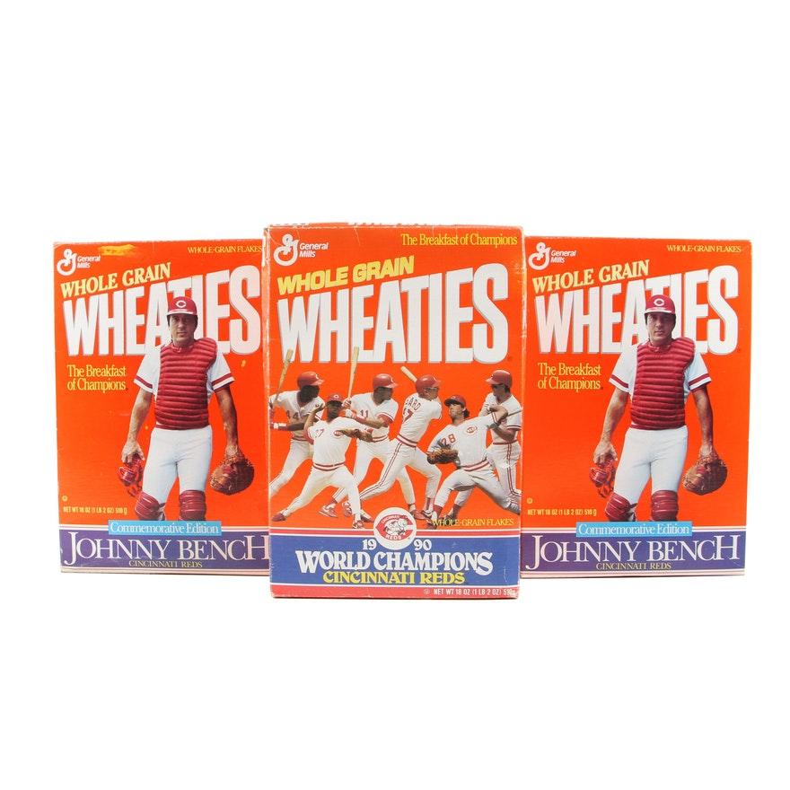 Wheaties Johnny Bench and Cincinnati Reds World Champions Cereal Boxes